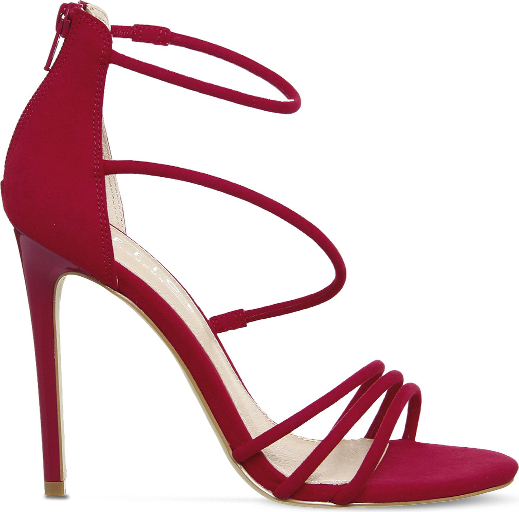 Harness Heeled Sandals - Red Office 92xxhHK