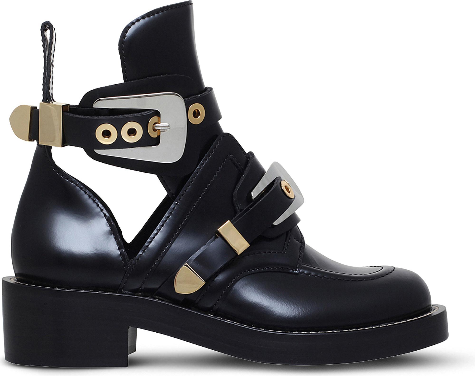 7a63f176ae35 Lyst - Balenciaga Women s Ceinture Ankle Boots in Blue - Save 40%