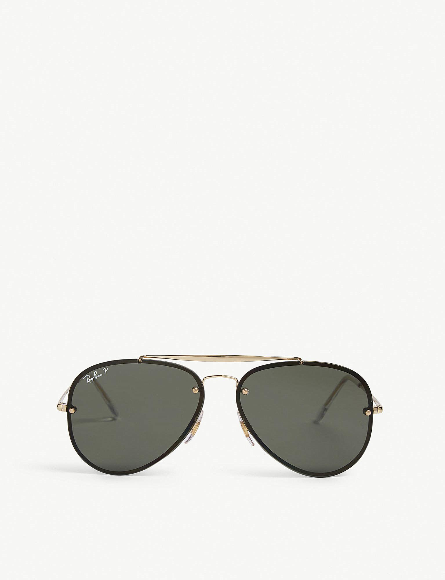363a722e748 Lyst - Ray-Ban Rb3584 Aviator Sunglasses in Metallic for Men