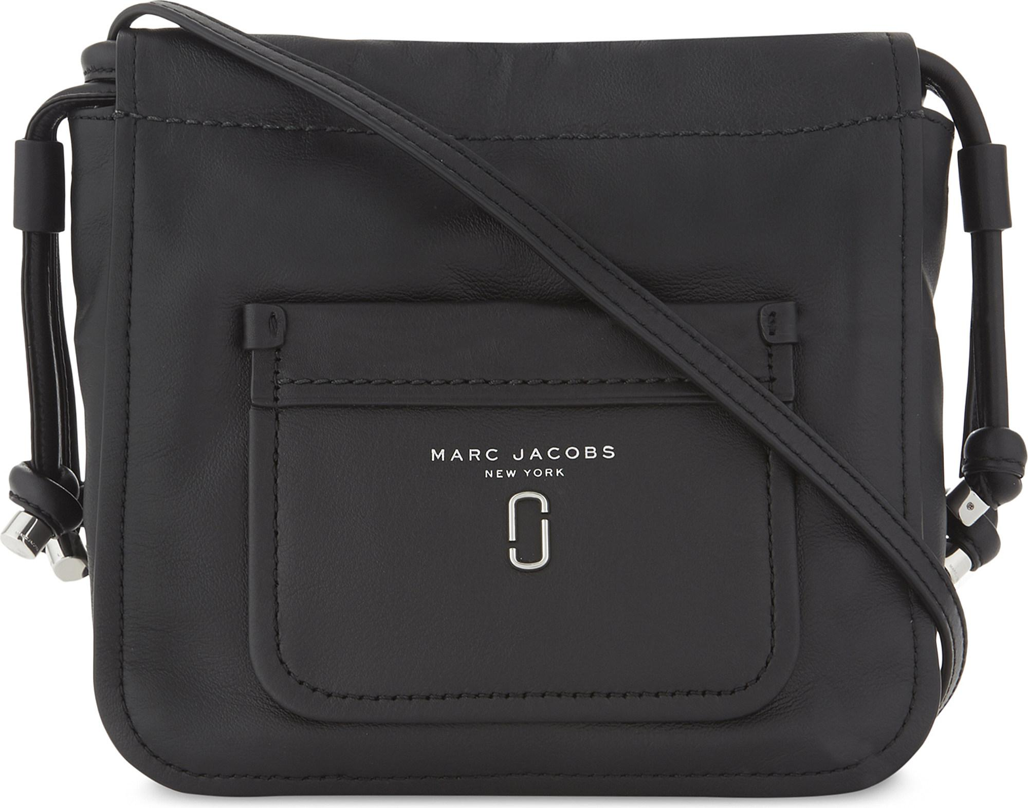 ef36487da3 Lyst - Marc Jacobs Tied Up Leather Cross-body Bag in Black