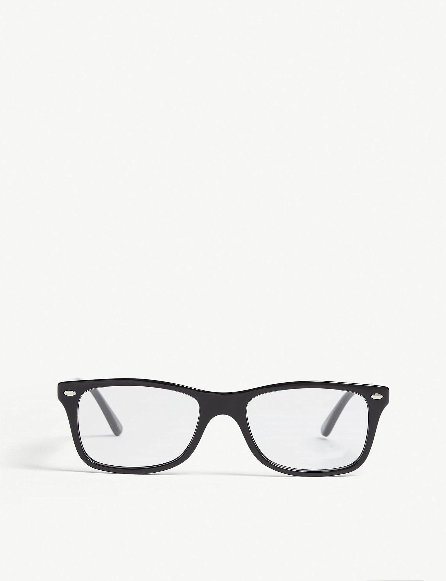 lyst ray ban rb5228 square frame glasses in black  ray ban women s black rb5228 square frame glasses