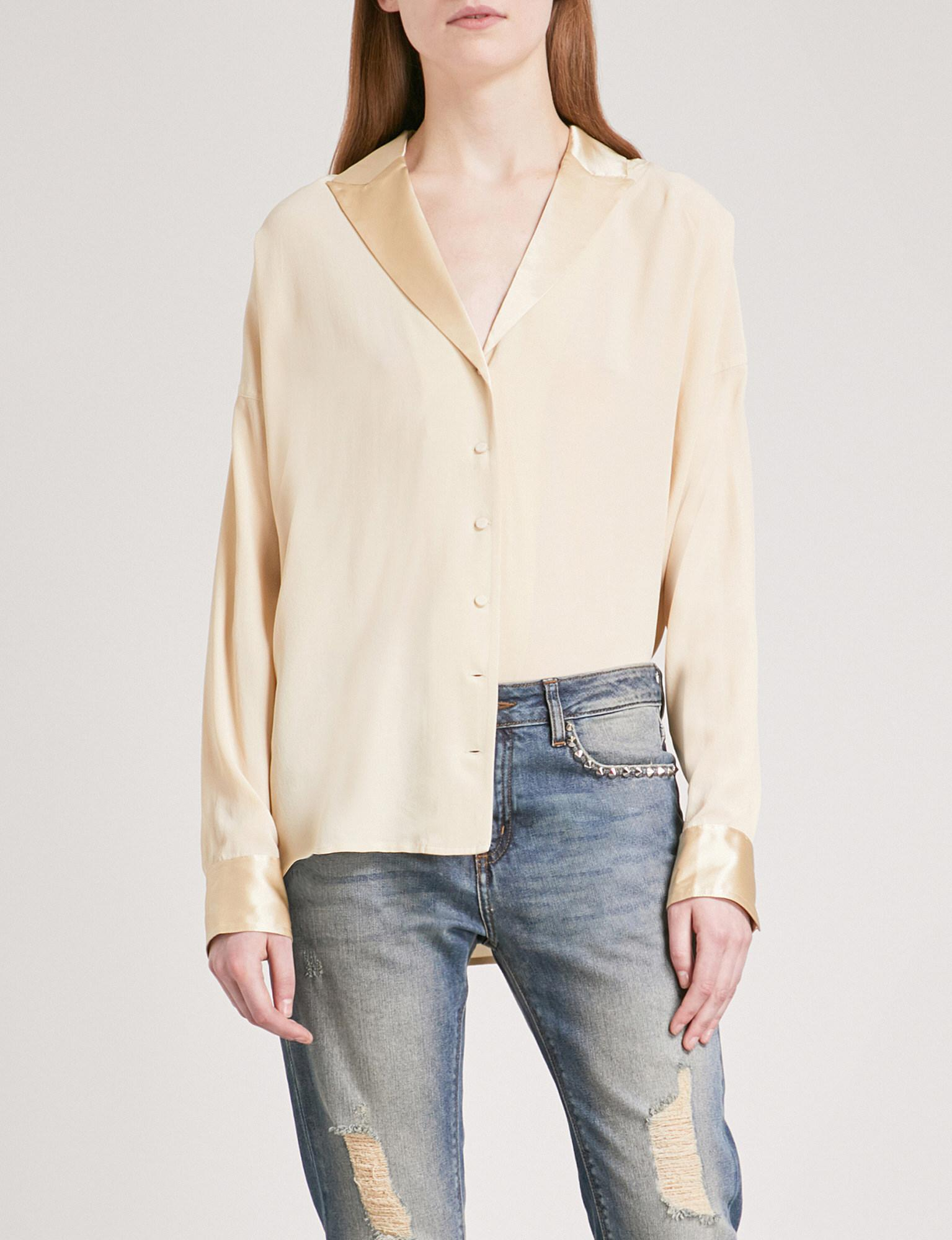 a41066a66d0e8 Lyst - Zadig   Voltaire Timothee Deluxe Silk-crepe De Chine And Silk ...