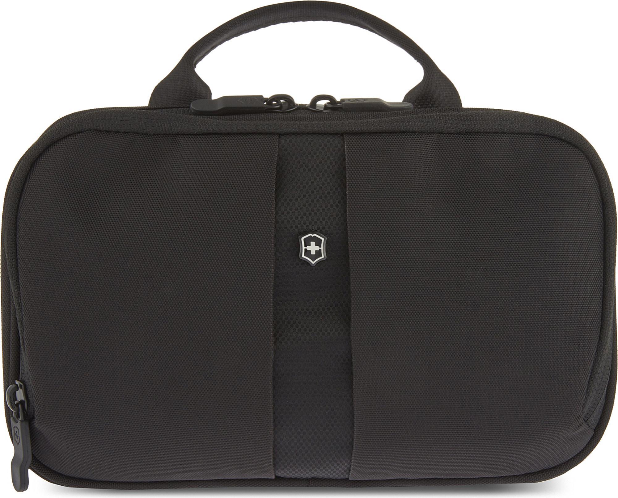 Victorinox Men S Black Slimline Toiletry Bag