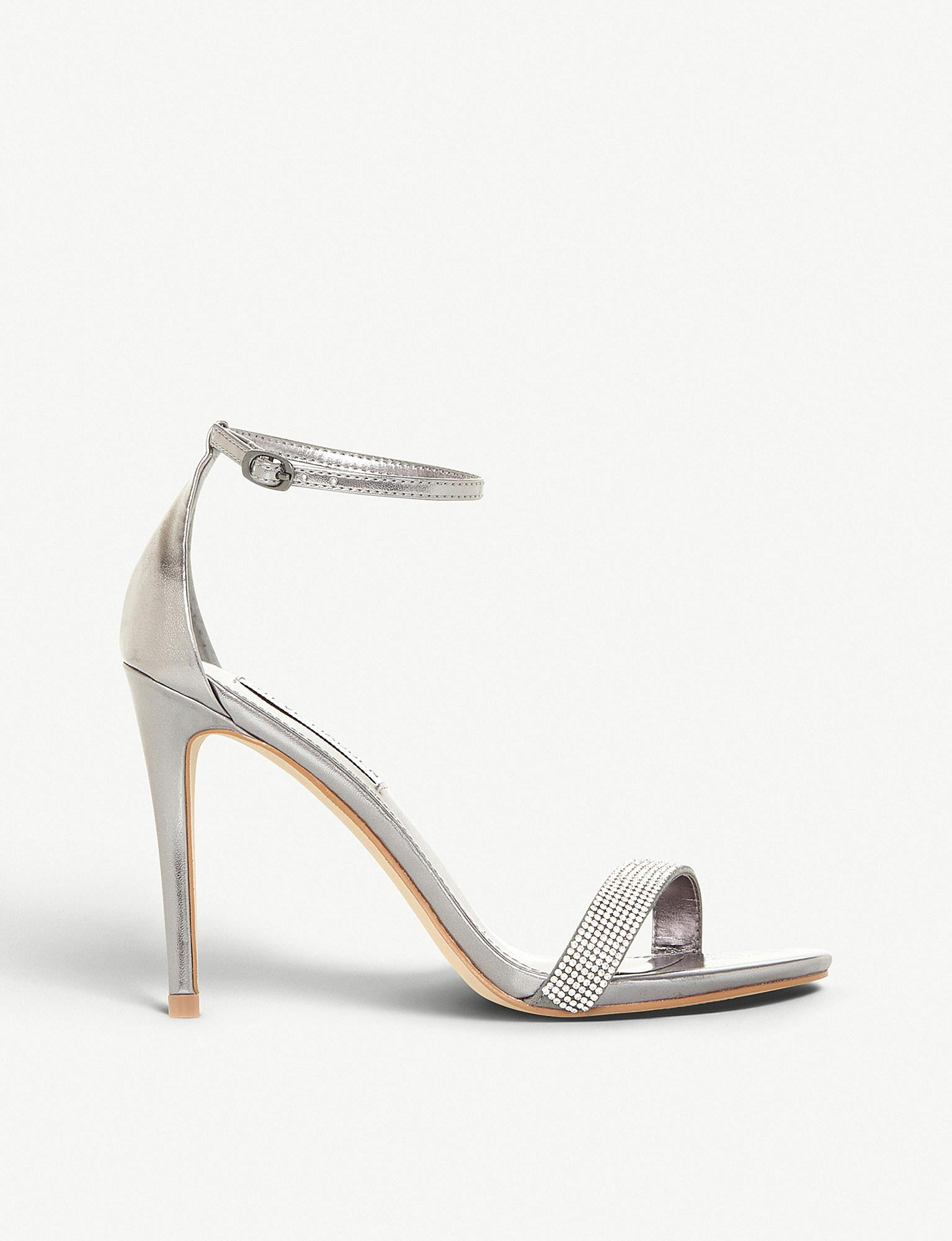 81b7052b840 Steve Madden Stecy Metallic Faux-leather And Diamanté Sandals in ...