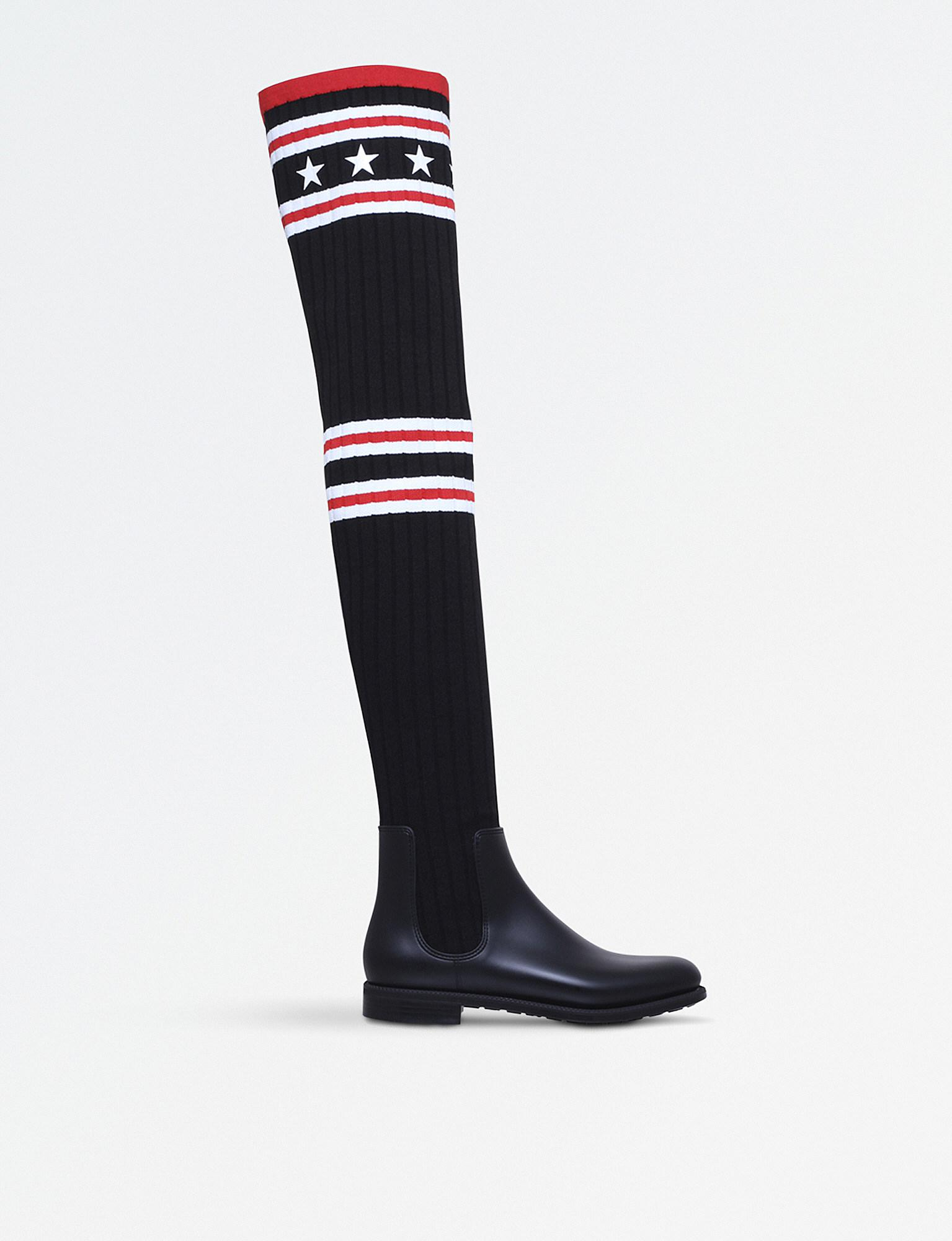 Givenchy Storm Knit Rain Boots