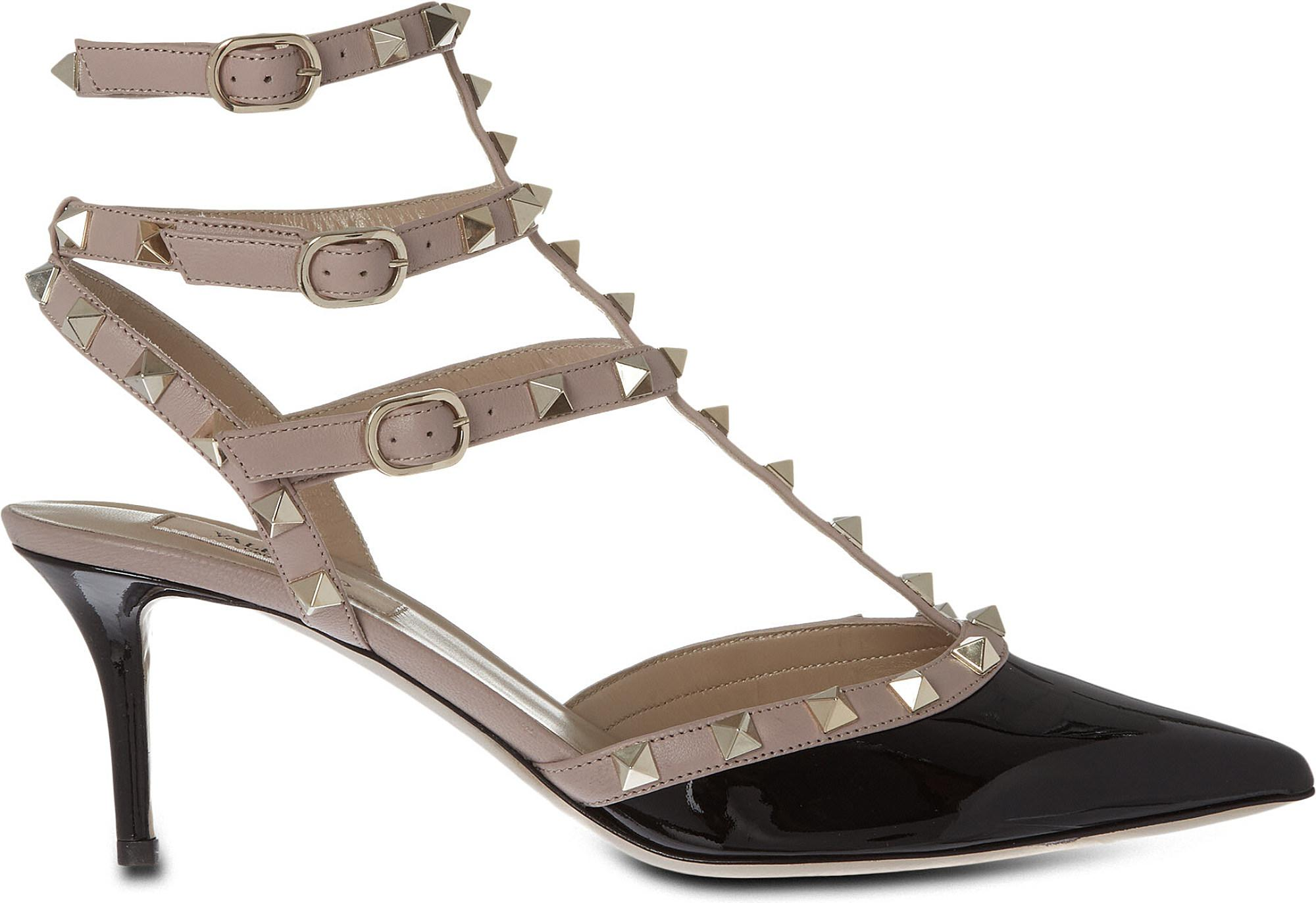 9a8623eef7bc Valentino. Women s So Noir 65 Patent-leather Heeled Sandals