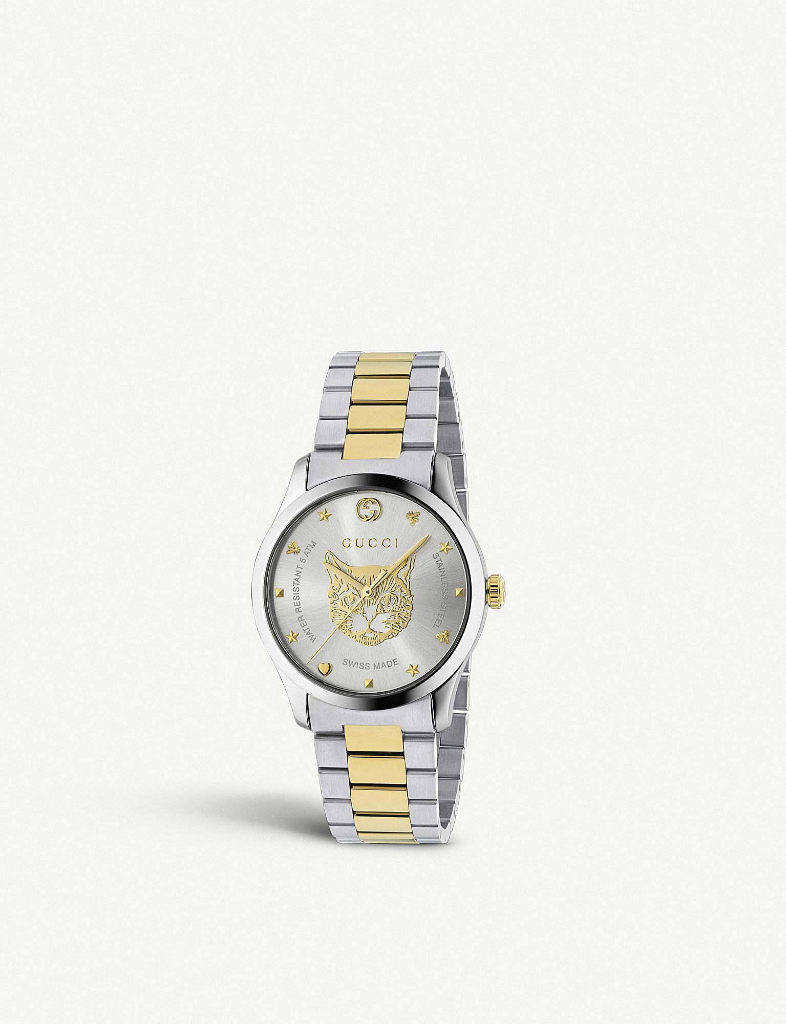 43959153461890 Gucci - Metallic Ya1264074 G-timeless Stainless Steel And Gold-plated Watch  - Lyst. View fullscreen