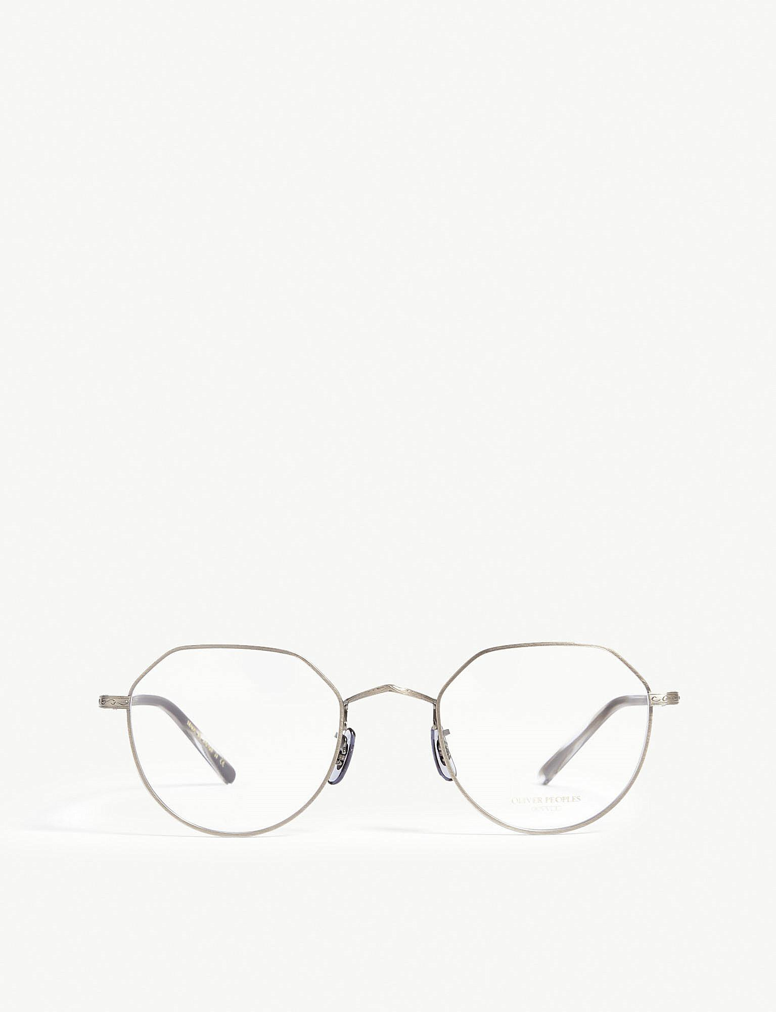 Lyst - Oliver Peoples Round-frame Optical Glasses in Gray