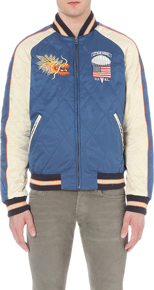 Lyst Polo Ralph Lauren Reversible Satin Souvenir Jacket