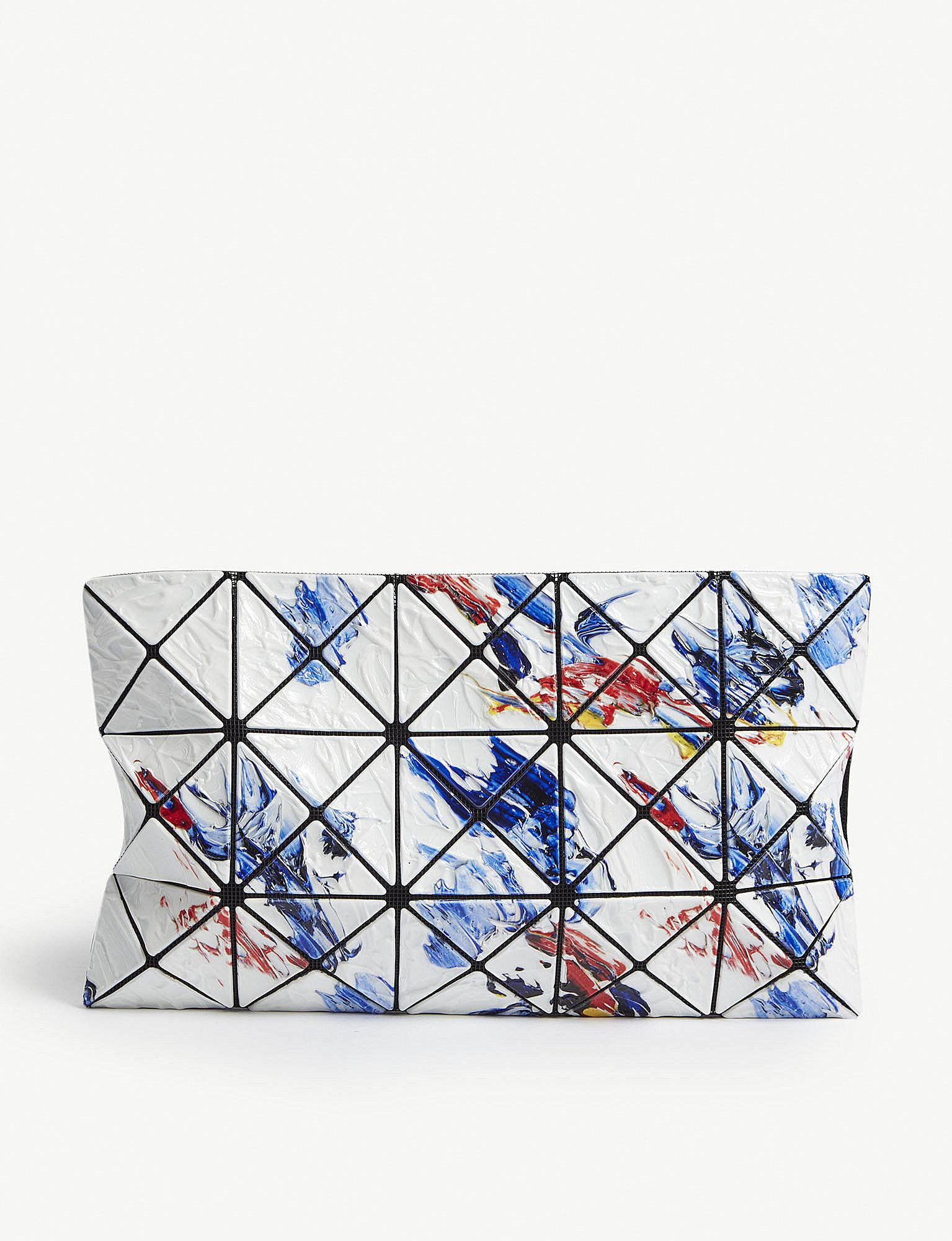 2b1db9dc09 Lyst - Bao Bao Issey Miyake Painting Prism Pvc Pouch in Blue