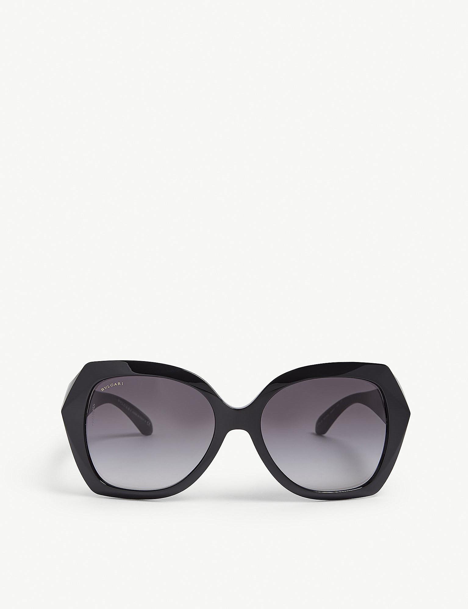 f6638781bc Bvlgari Black Bv8182b Square Sunglasses in Black - Lyst