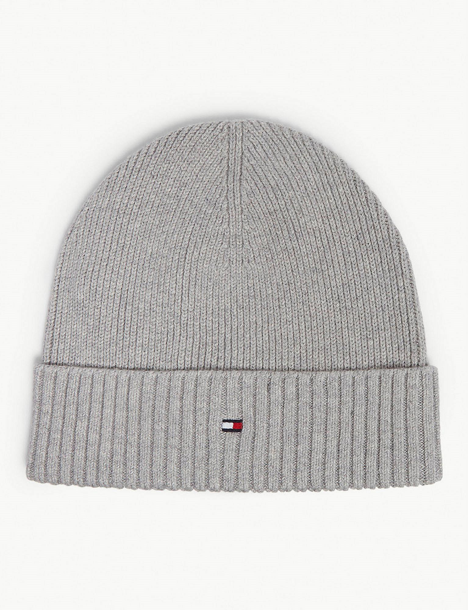 33644d61 Tommy Hilfiger Pima Cotton And Cashmere Beanie in Gray for Men - Lyst