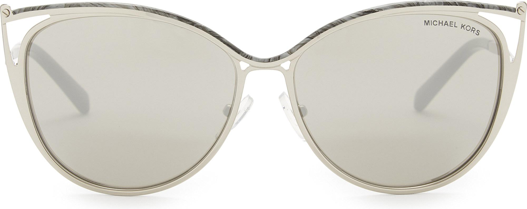 e4ea33f769274 Lyst - Michael Kors Mk1020 Cat-eye Sunglasses in Gray