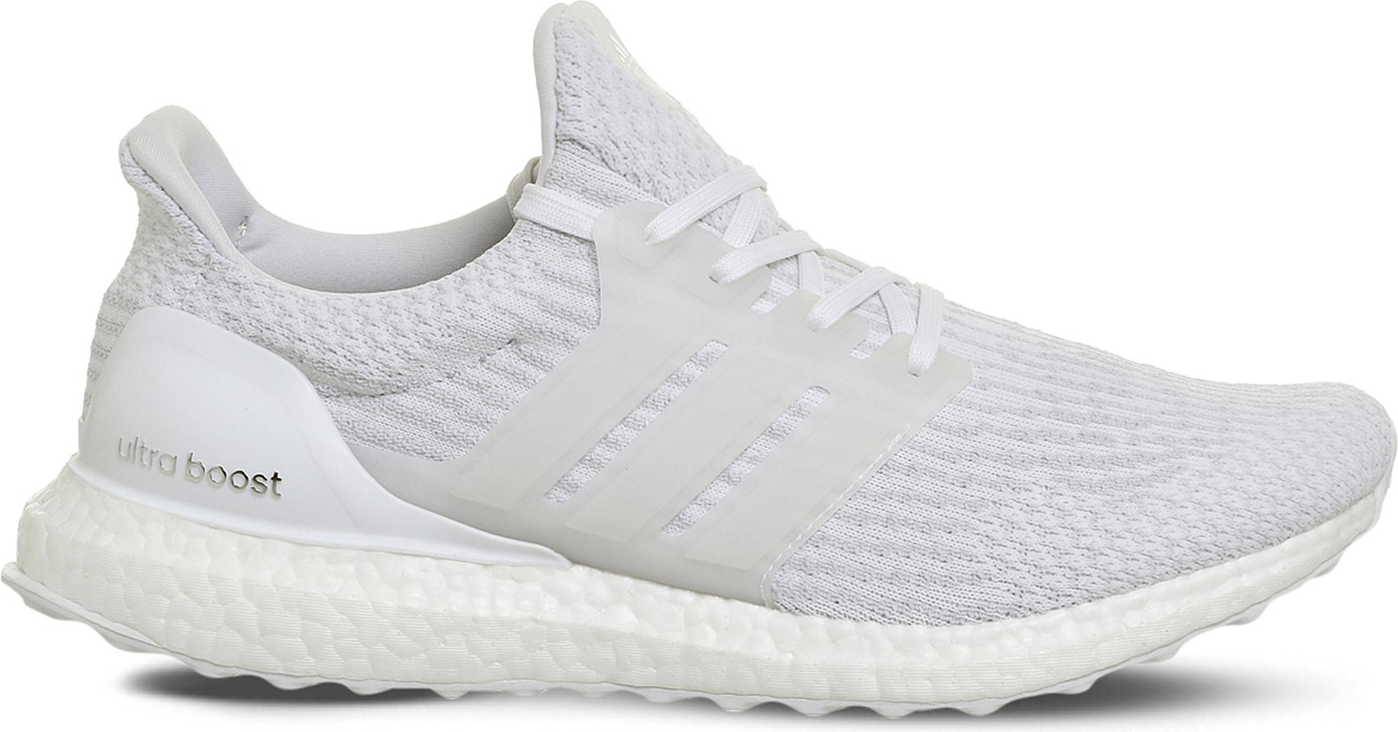 cf267ca77 adidas Ultra Boost Primeknit Trainers in White for Men - Lyst