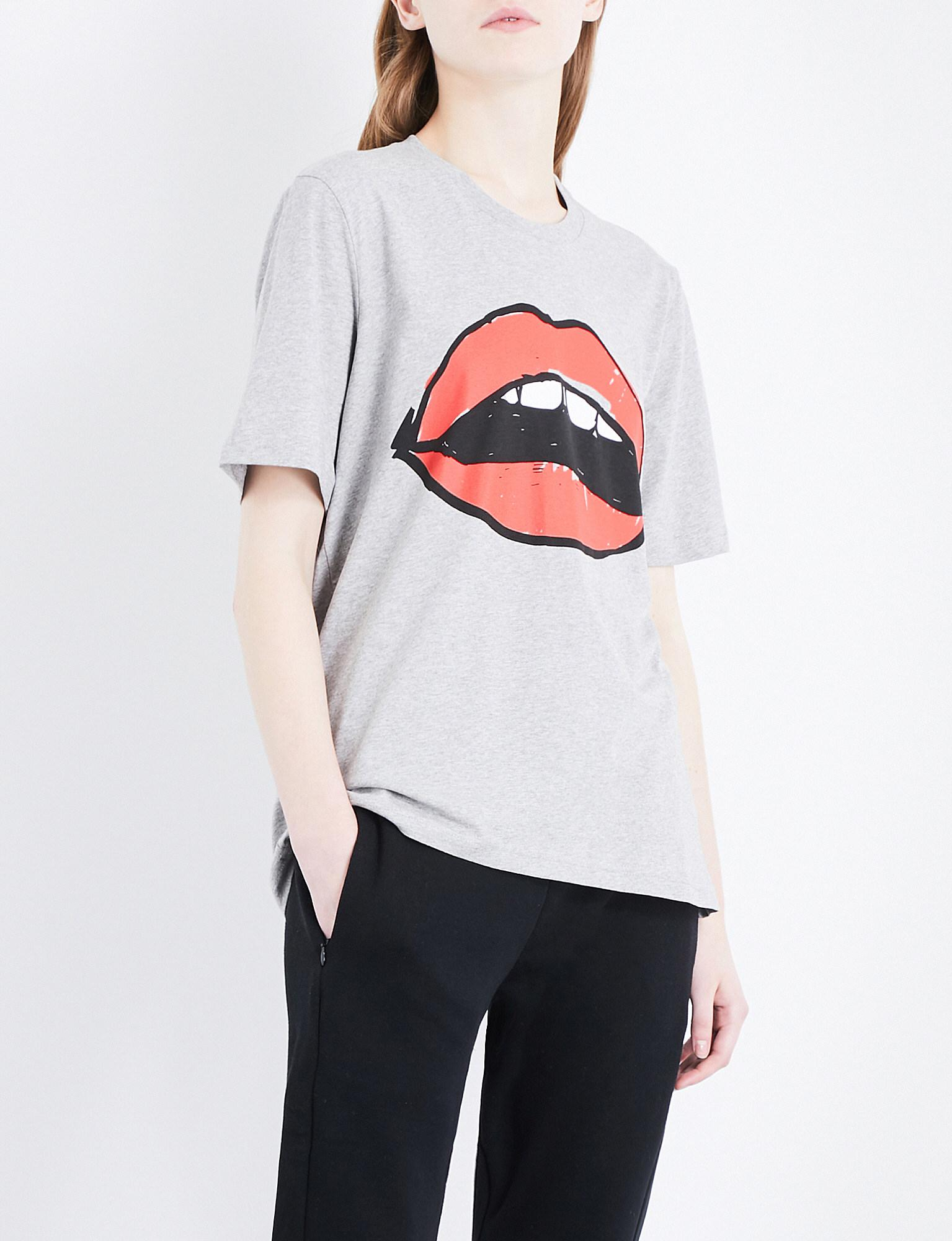 Lyst Markus Lupfer Lara Lip Alex Cotton Jersey T Shirt