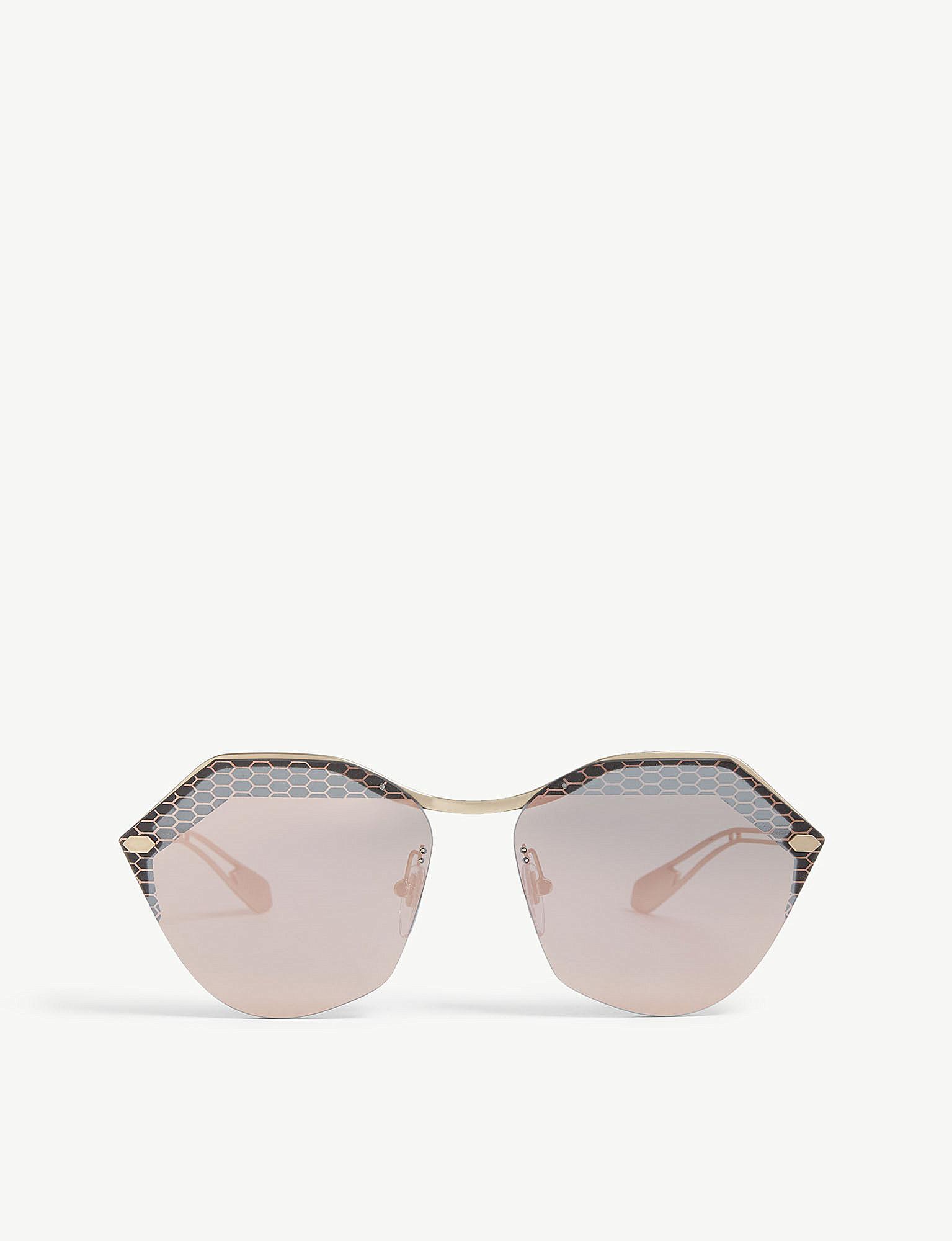 423866bf1f334 Bvlgari Bv6109 Irregular-frame Sunglasses in Metallic - Lyst