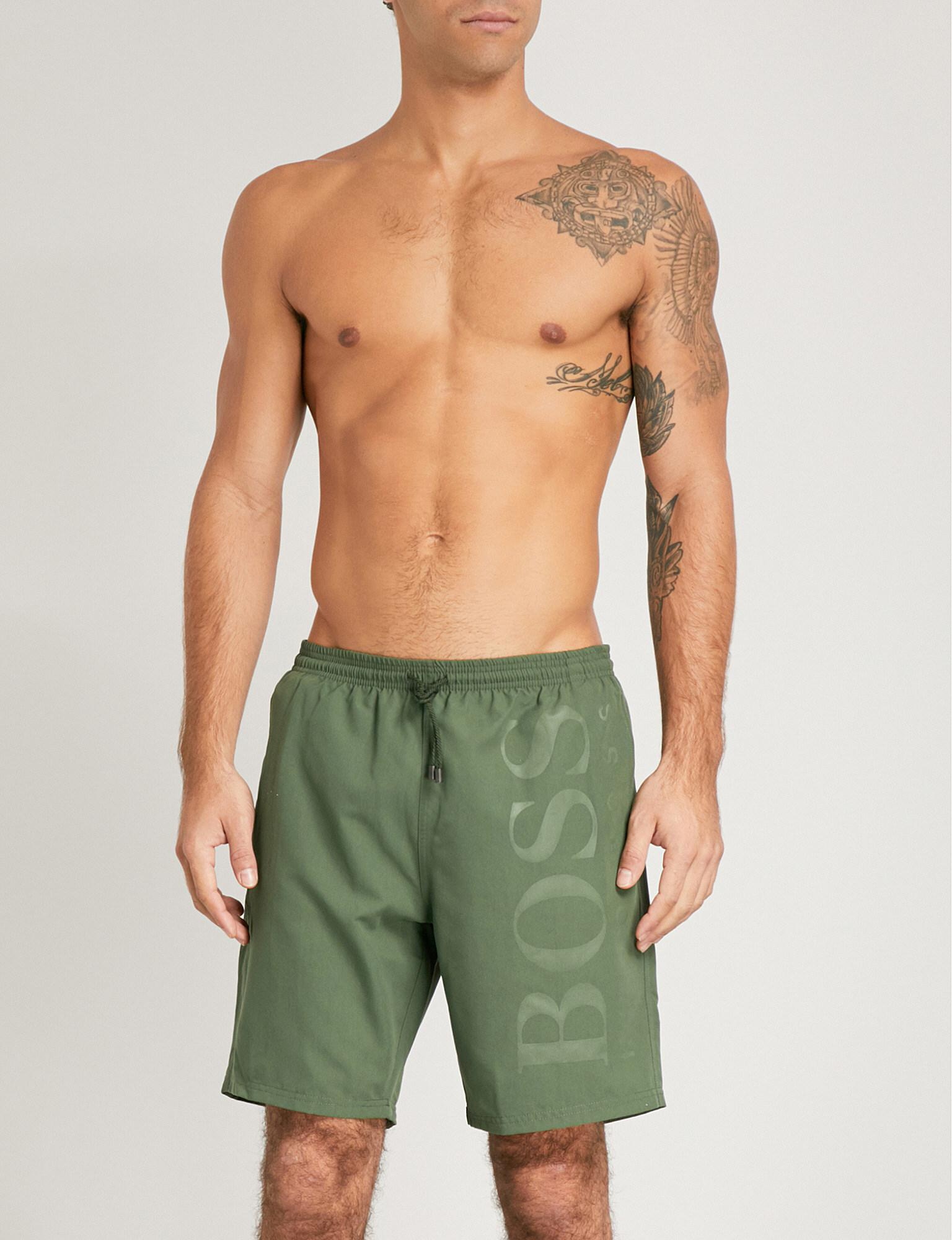 e096e6c73a Lyst - BOSS Orca Logo Swim Shorts in Green for Men