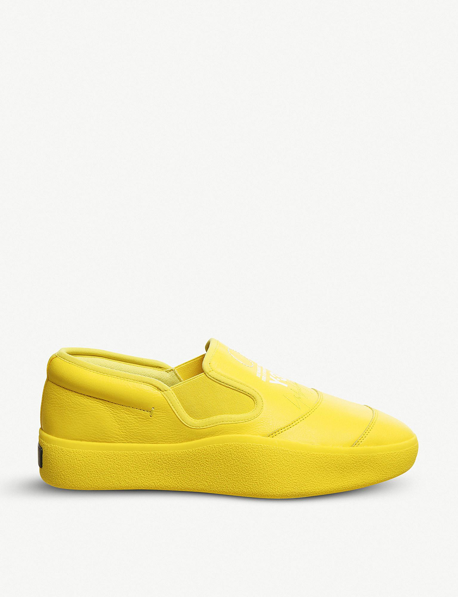 f71301c6b adidas Y-3 Tangutsu Leather Slip-on Trainers in Yellow for Men - Lyst