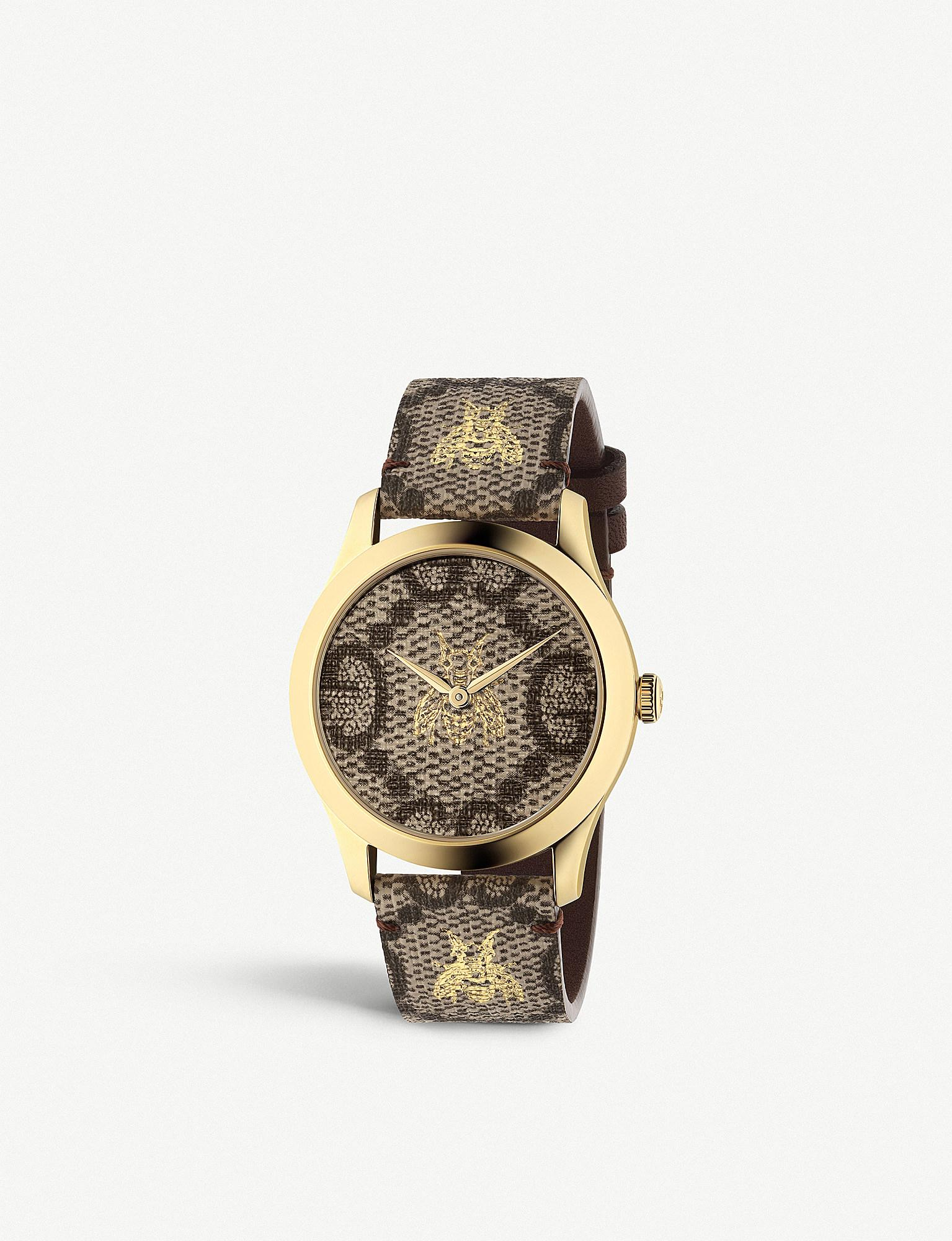 0096299b078 Gucci Ya1264068 G-timeless Gold Pvd Watch in Metallic for Men - Save ...