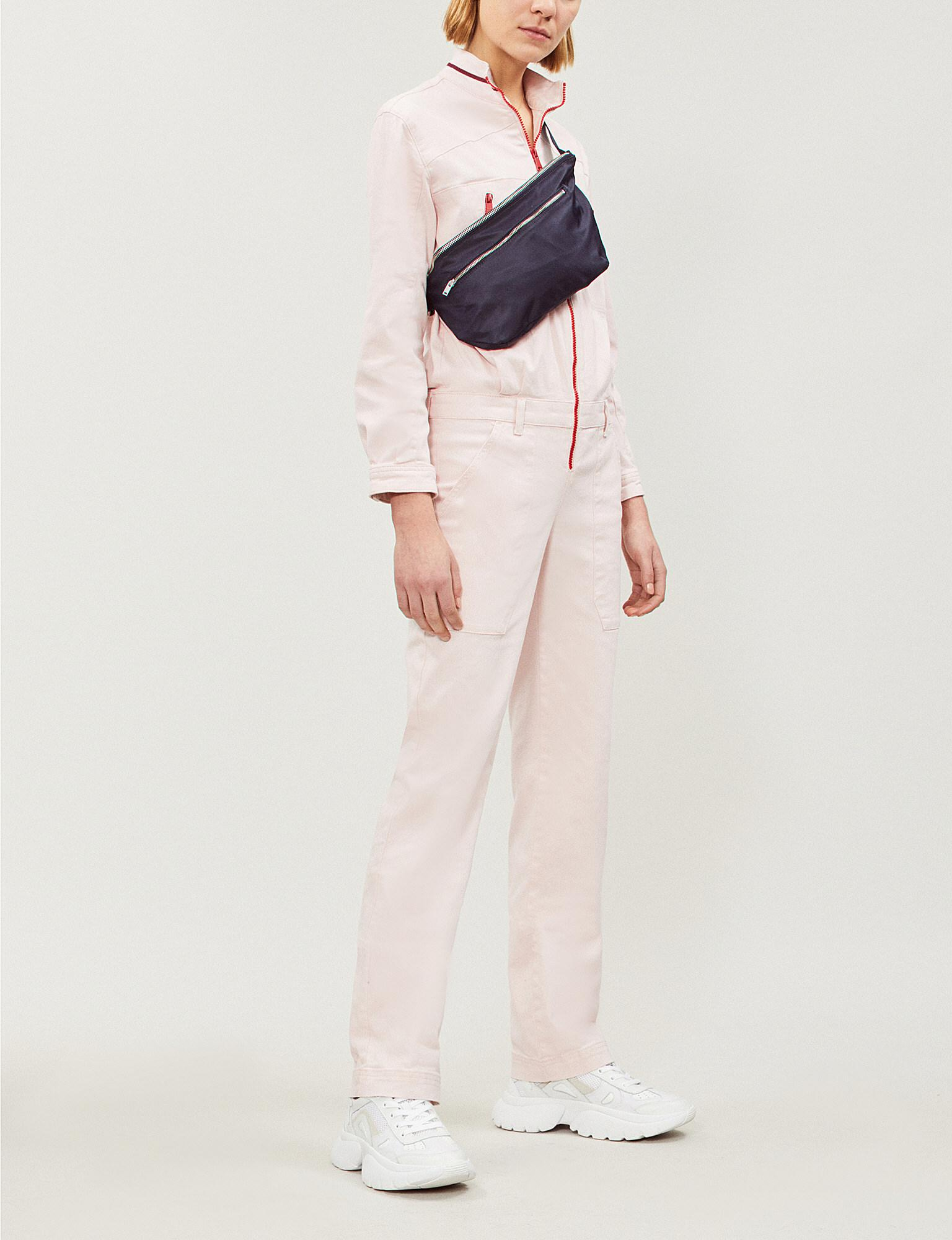 abd992e6b20a Ba sh Cesar Stretch-denim Jumpsuit in Pink - Lyst