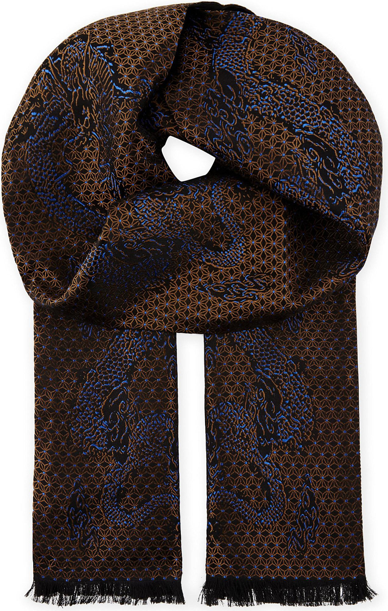 Lyst - The Kooples Dragon Pattern Silk Scarf for Men