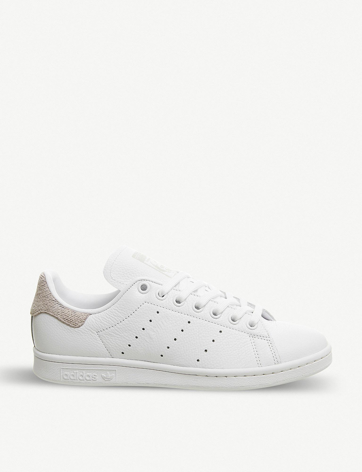 10f03ca5cd0d adidas Stan Smith Leather Trainers in White for Men - Lyst