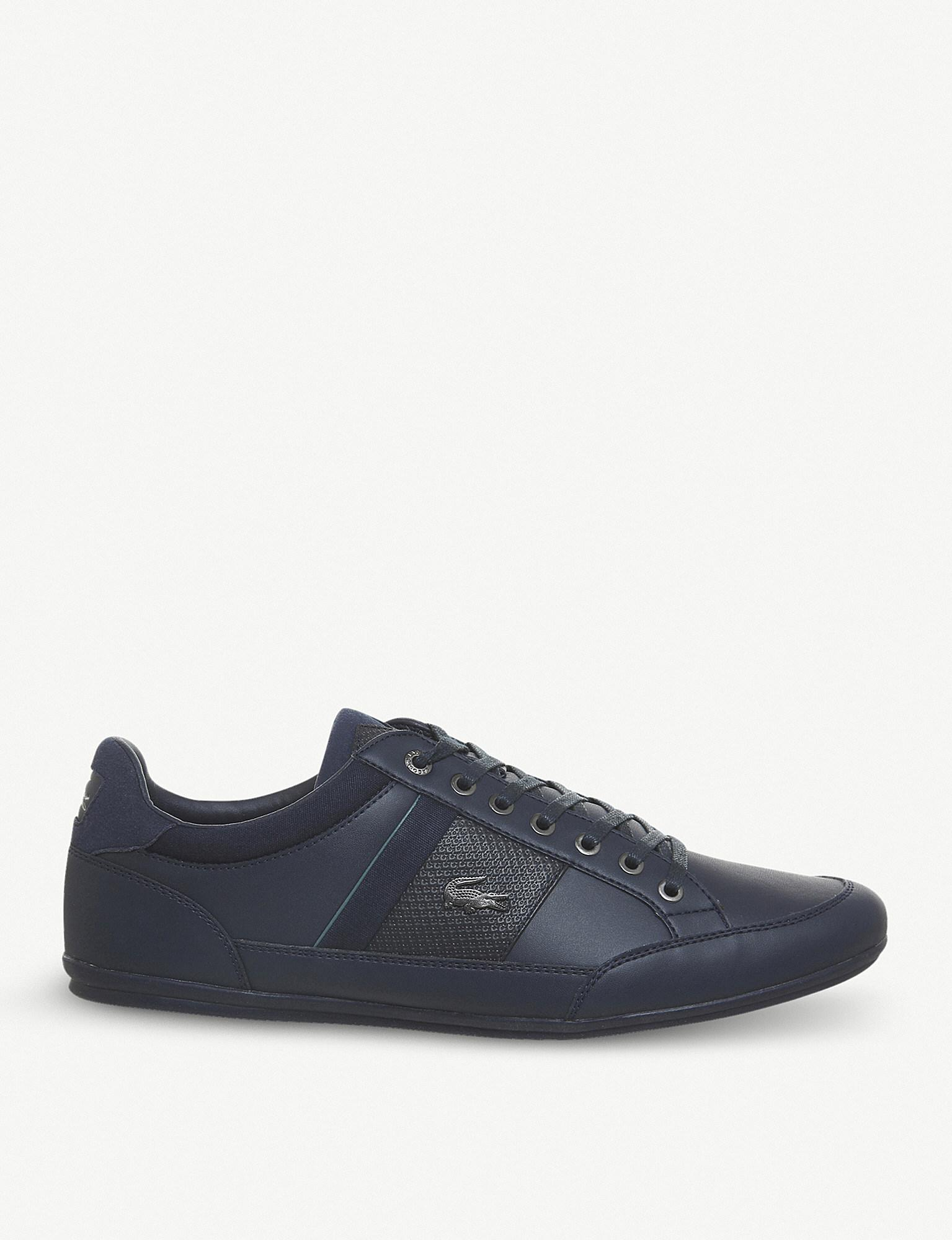 aa963b9cfc98b2 Lacoste Chaymon Low-top Leather Trainers in Blue for Men - Lyst