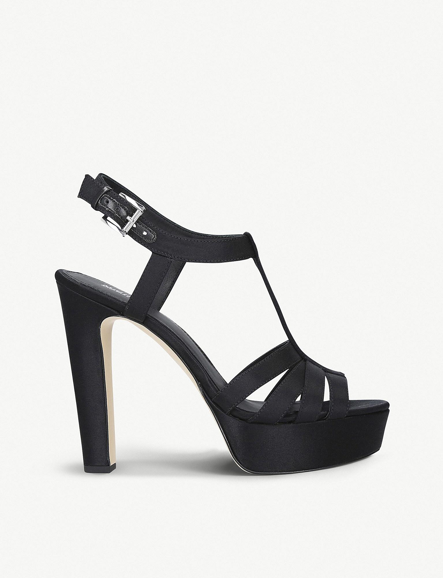 d12e672e06c Lyst - MICHAEL Michael Kors Catalina Heeled Satin Sandals in Black