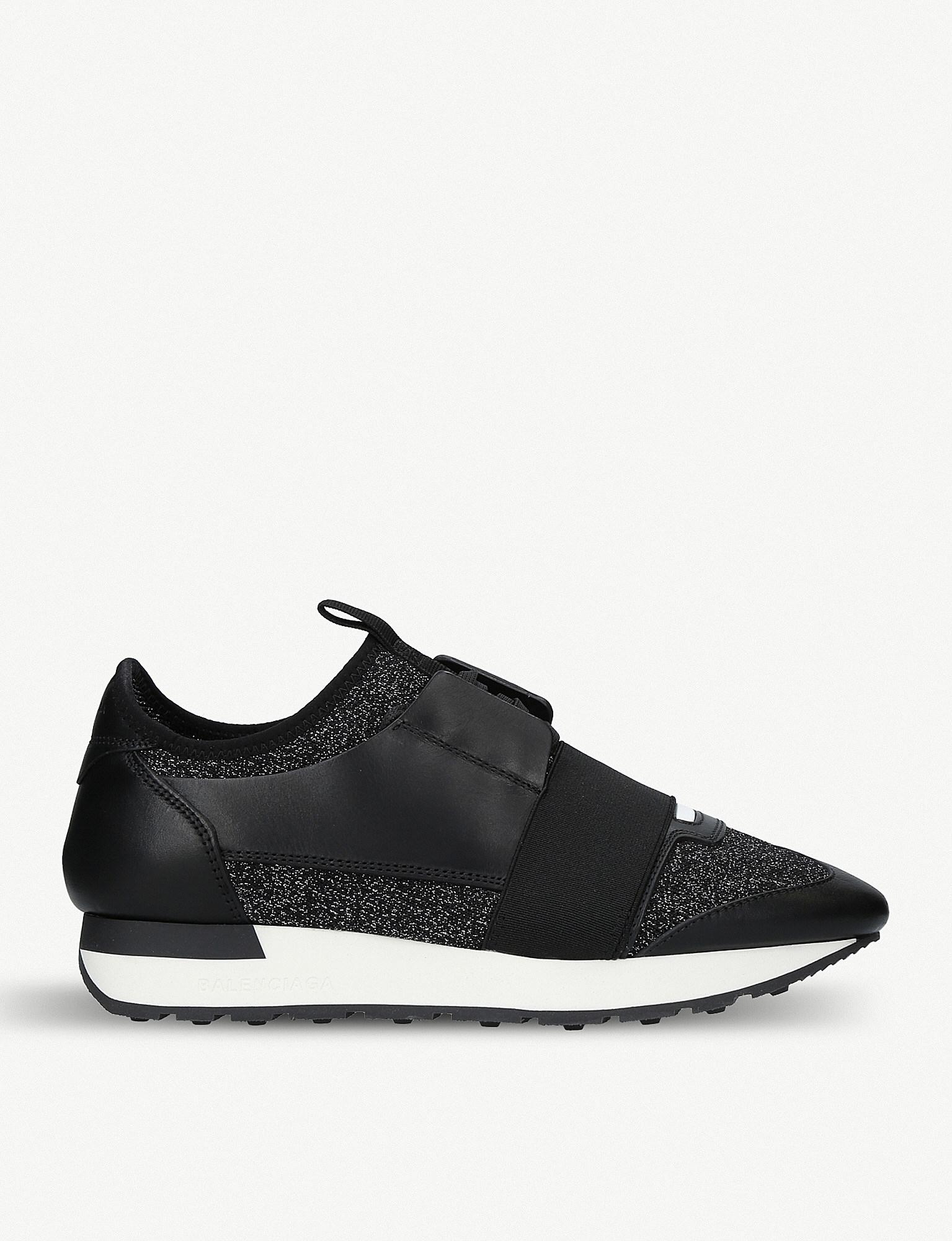 a024cf47069a Balenciaga Race Runners Low-top Trainers in Black - Lyst