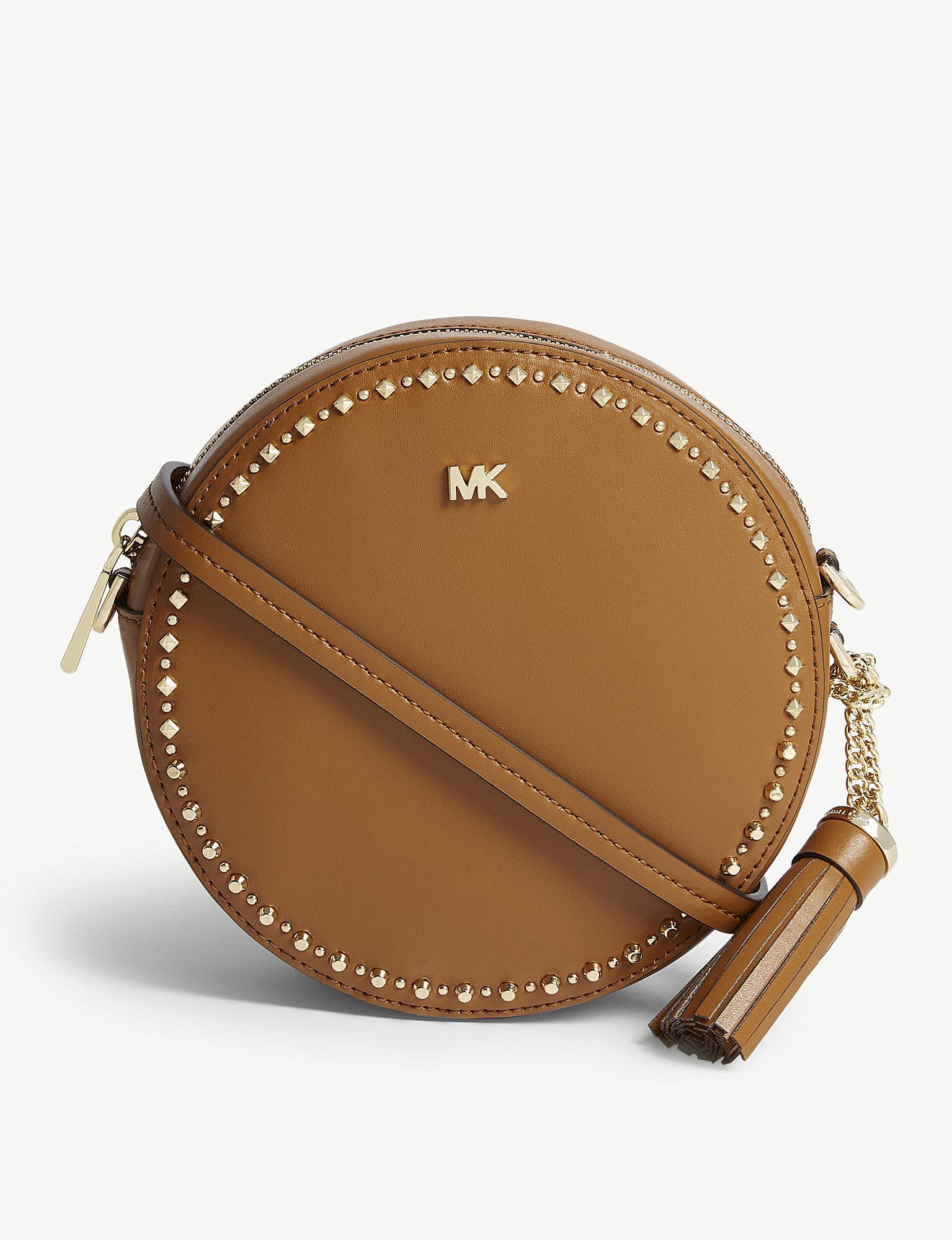 aab2004a4eb87d MICHAEL Michael Kors Canteen Studded Leather Cross-body Bag - Lyst