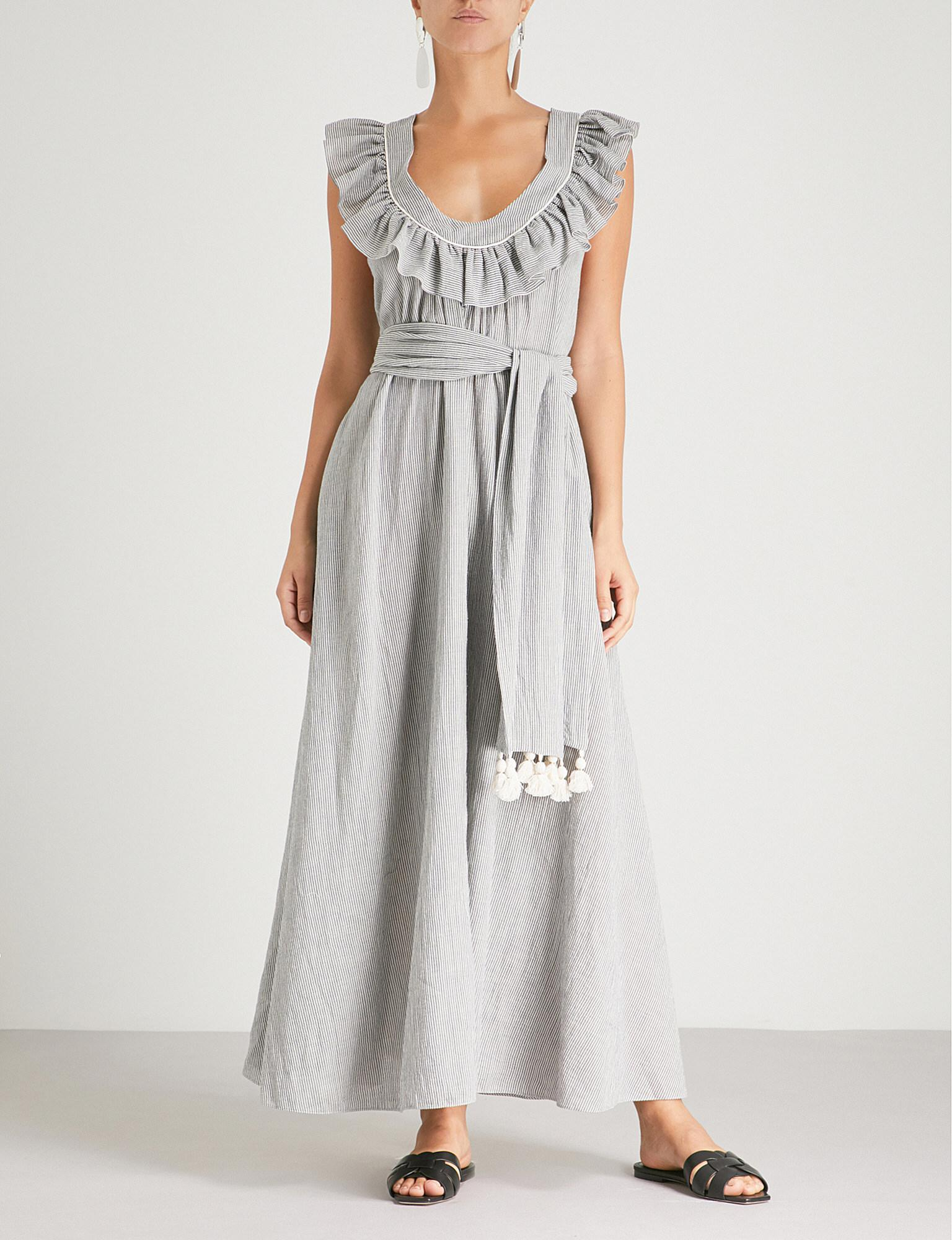 Geraldine cotton-blend maxi dress Three Graces London Cheap Sale Low Shipping 14EP5sLZ