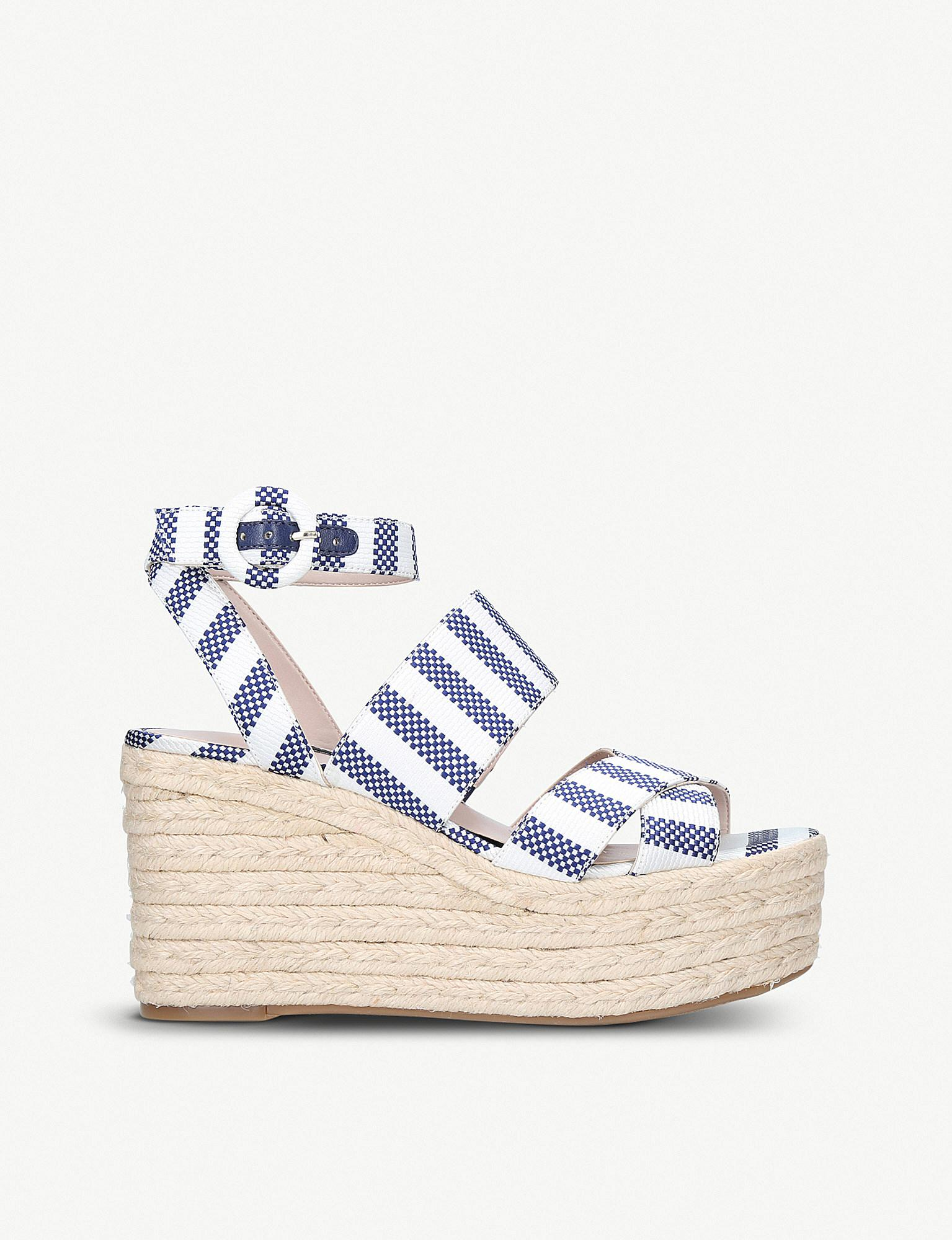 ac90f65f682 Lyst - Nine West Kushala Wedge Heel Sandals in Blue