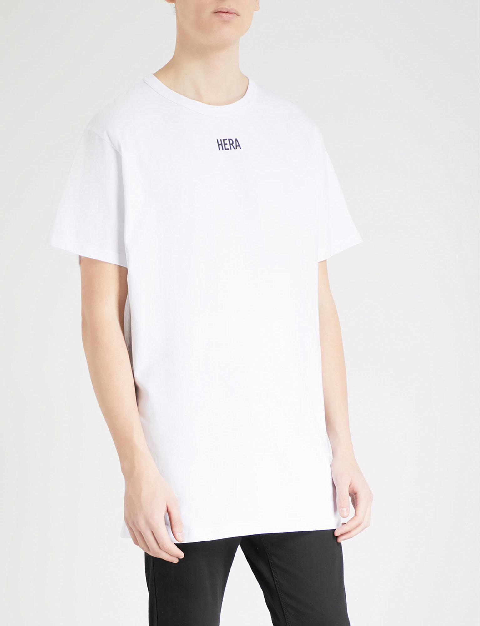 e593272436521 T Hera Shirt Printed White Men In For Lyst Cotton Jersey A54L3qcRjS