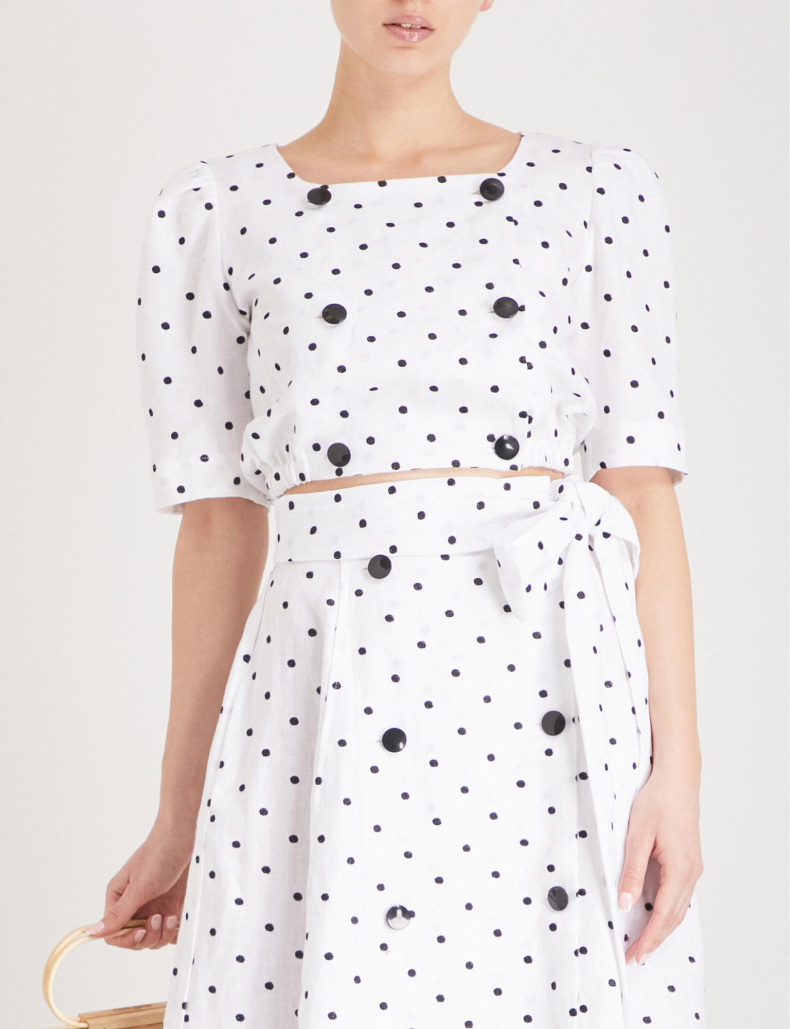 Polka-dot linen top Lisa Marie Fernandez Discount Inexpensive Buy Cheap Countdown Package Cheap Manchester Great Sale Official Site Sale Online Reliable Cheap Online CNRctMazSY