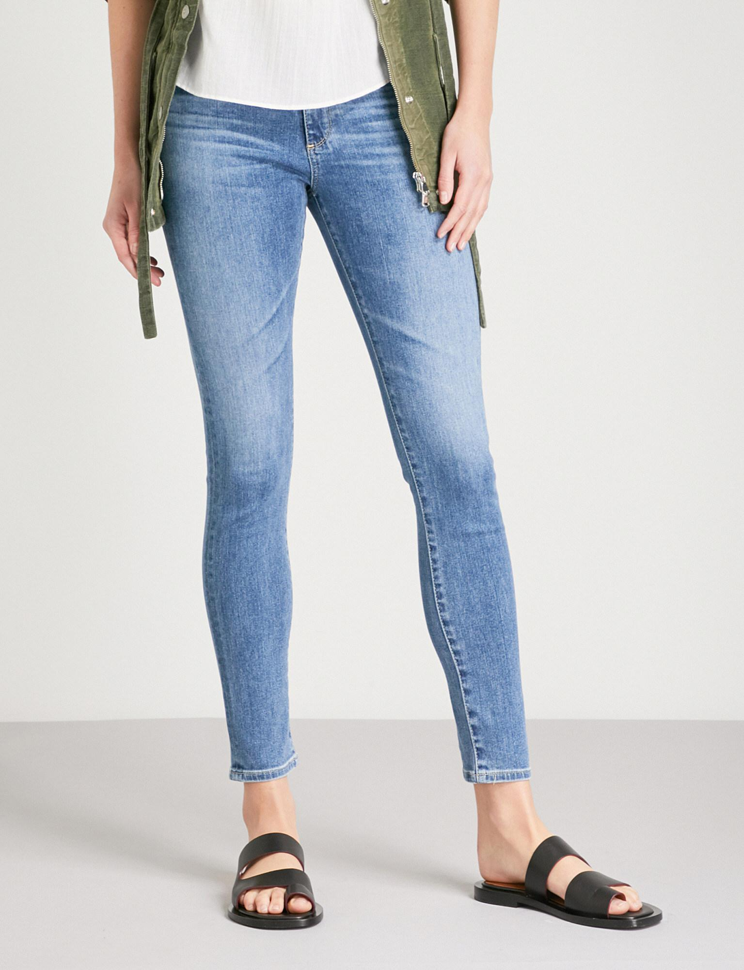 781bea6b43b5 Lyst - AG Jeans The Farrah Skinny High-rise Jeans in Blue