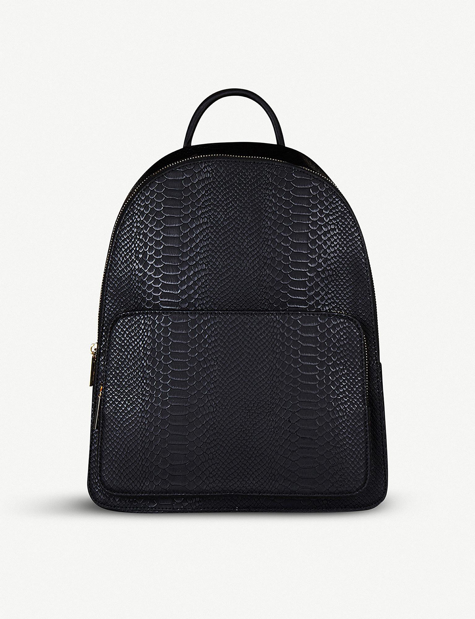 Star Embossed Pocket Velvet Backpack - Black Skinny Dip 8SnXwTabWK