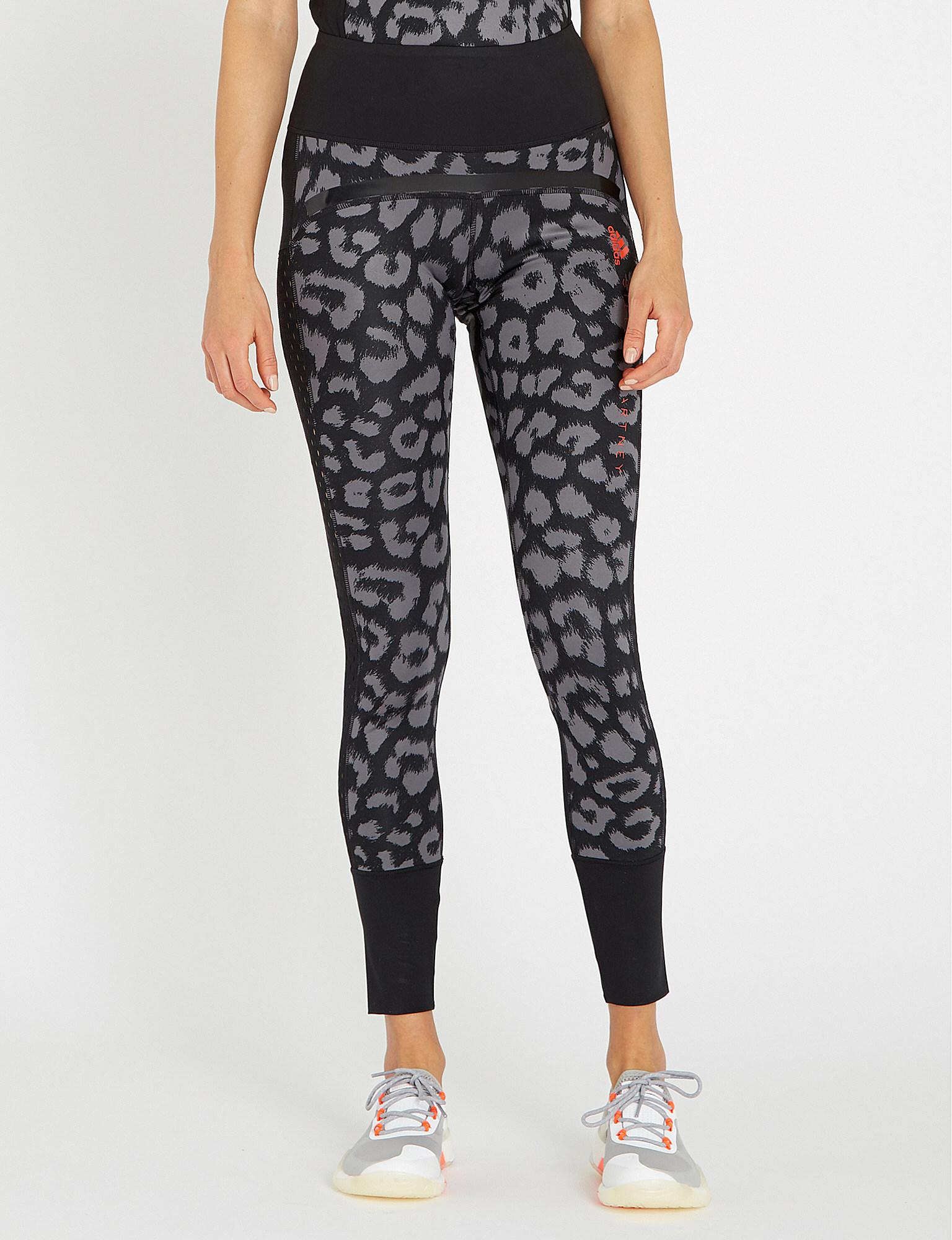 13bcaaf7e0aeb adidas By Stella McCartney. Women's Black Belive This Comfort Leopard-print  Stretch-jersey leggings