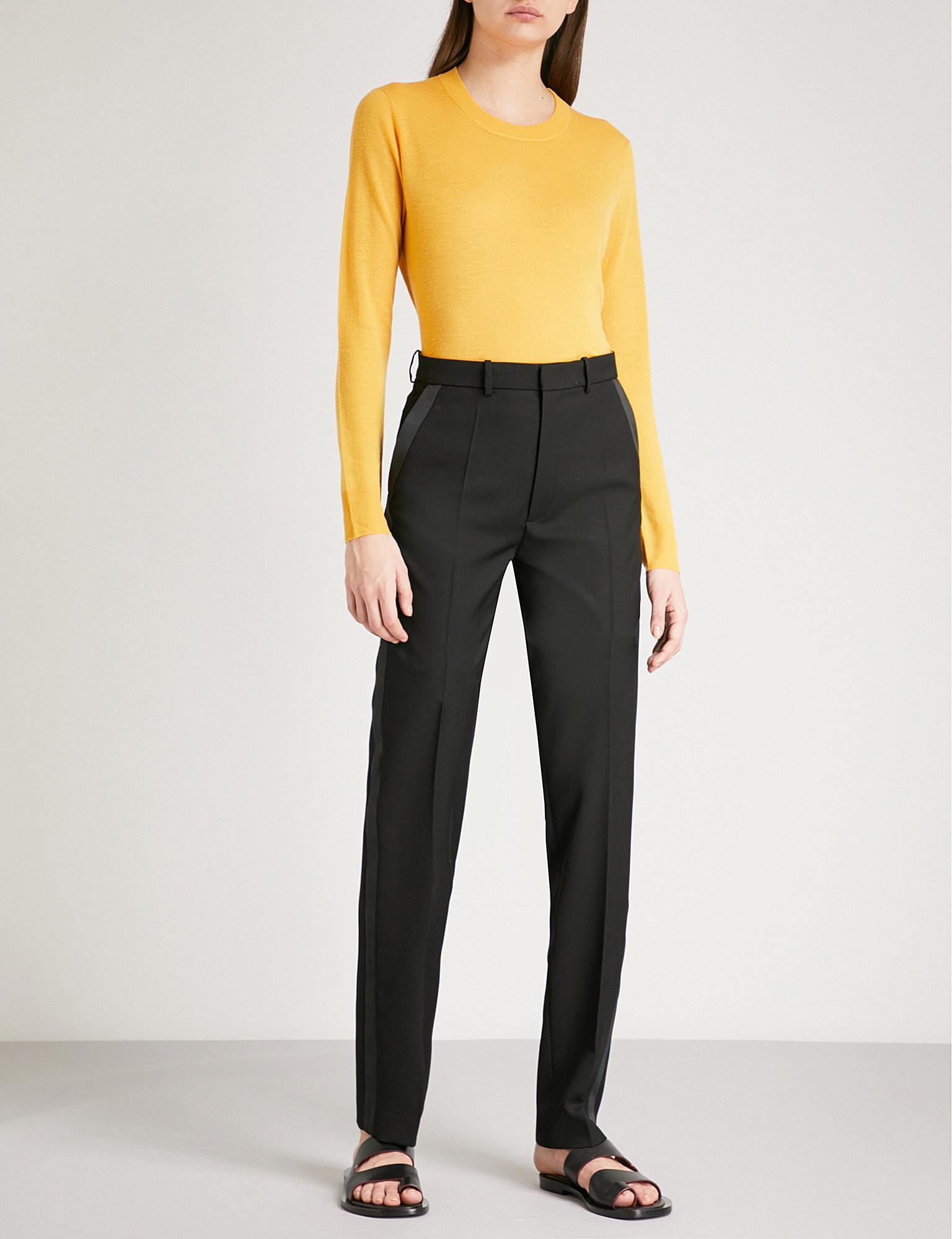 53c0b0c29ba Lyst - JOSEPH Grain De Poudre Fever Regular-fit Cady Tuxedo Trousers ...