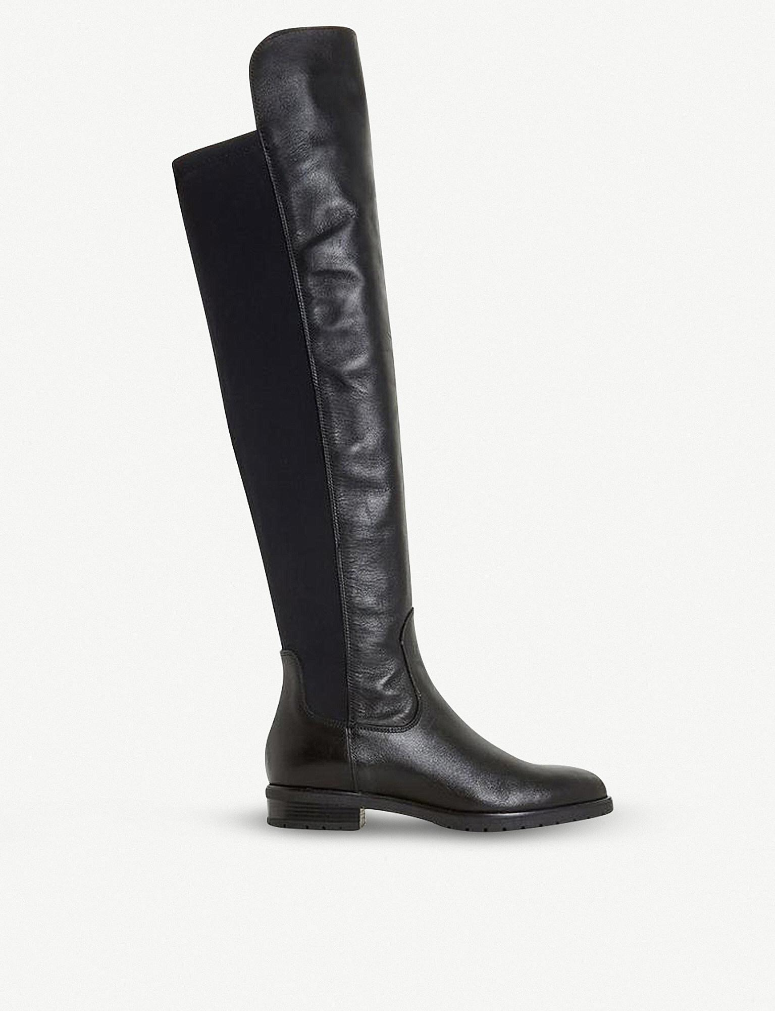 Dune Tarrin Over the Knee Boots, Leather