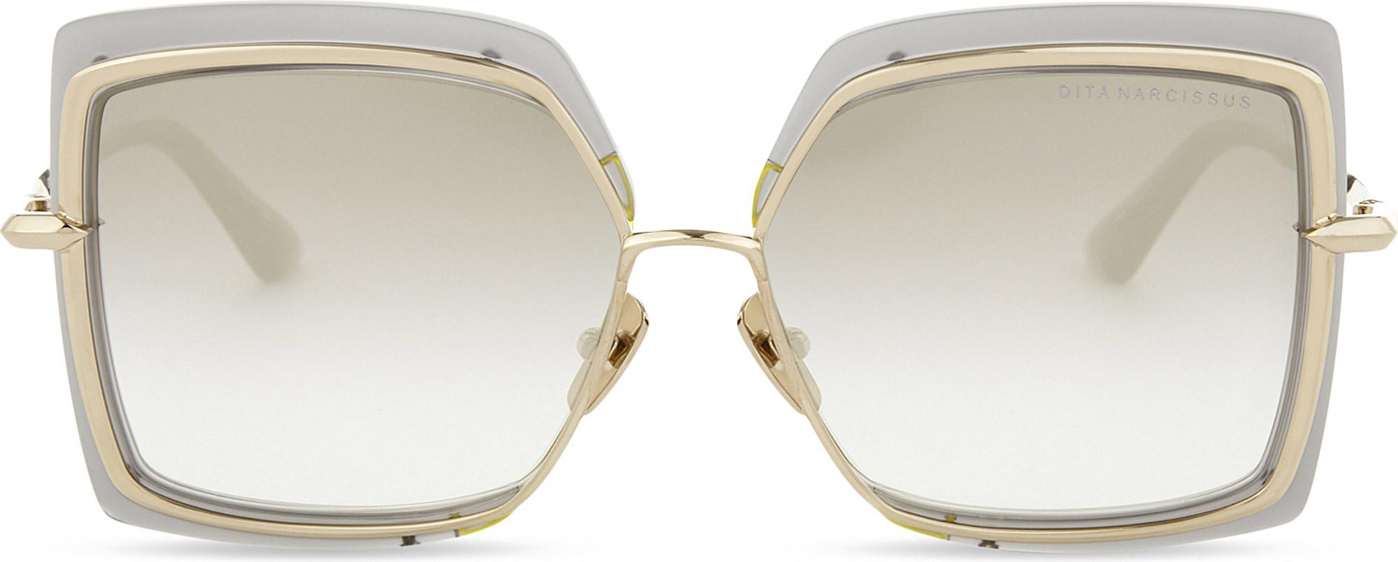 26a83e2056f DITA Narcissus Square-frame Sunglasses in Metallic - Lyst