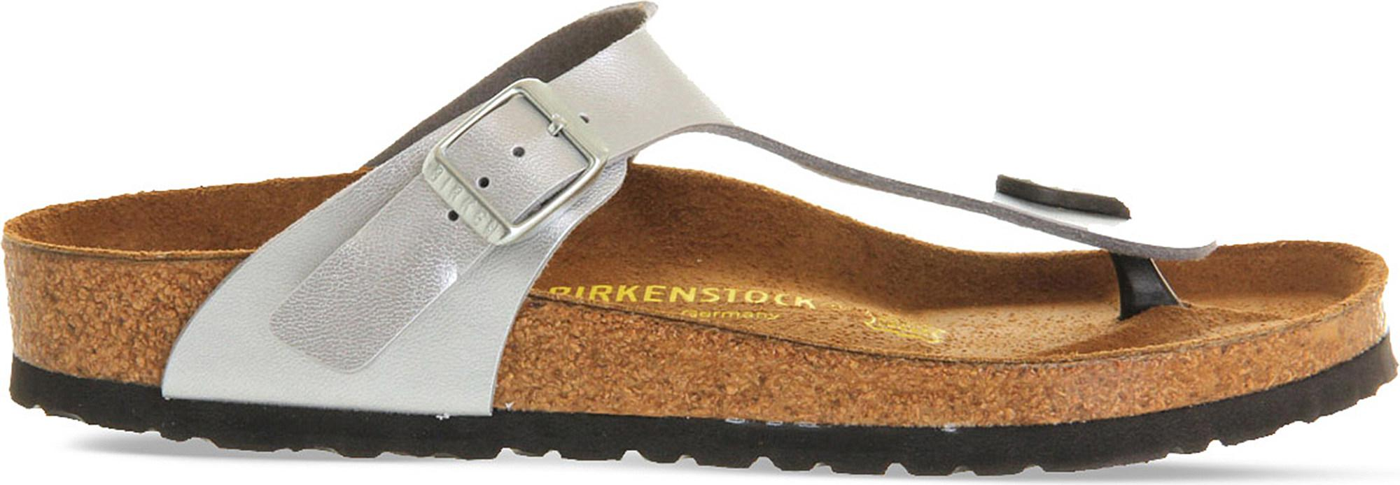 234453c54661 Lyst - Birkenstock Faux-leather Thong Sandals - Save 10%