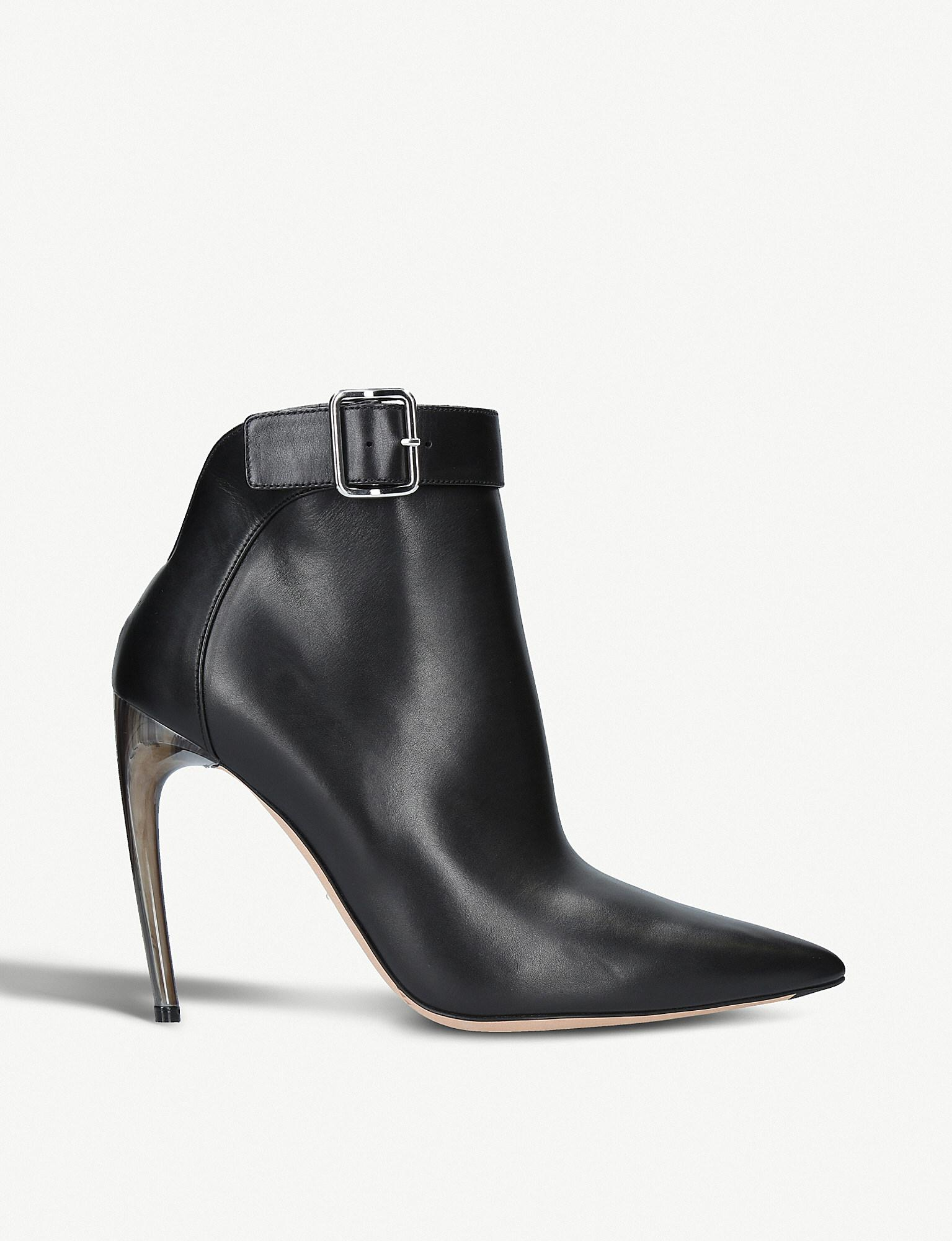 horn heel ankle boots - Black Alexander McQueen Clearance Wide Range Of Pay With Paypal Sale Online New Arrival Cheap Online Free Shipping 100% Guaranteed Cheap Sale Deals 1EeDWtk
