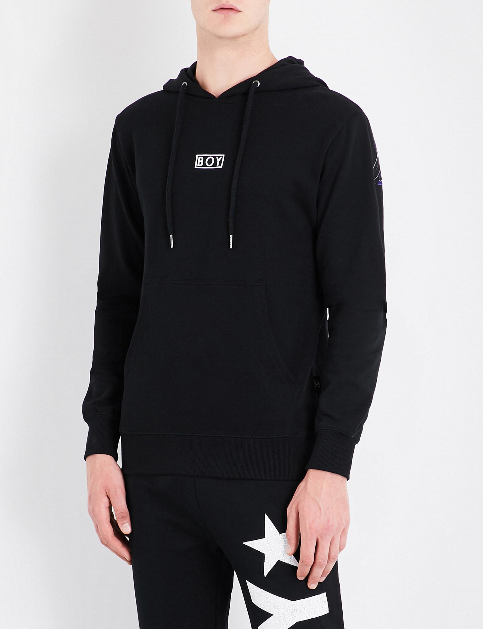 651187cd4c91 BOY London. Men s Black Eagle-print Cotton-jersey Hoody. £100 From  Selfridges