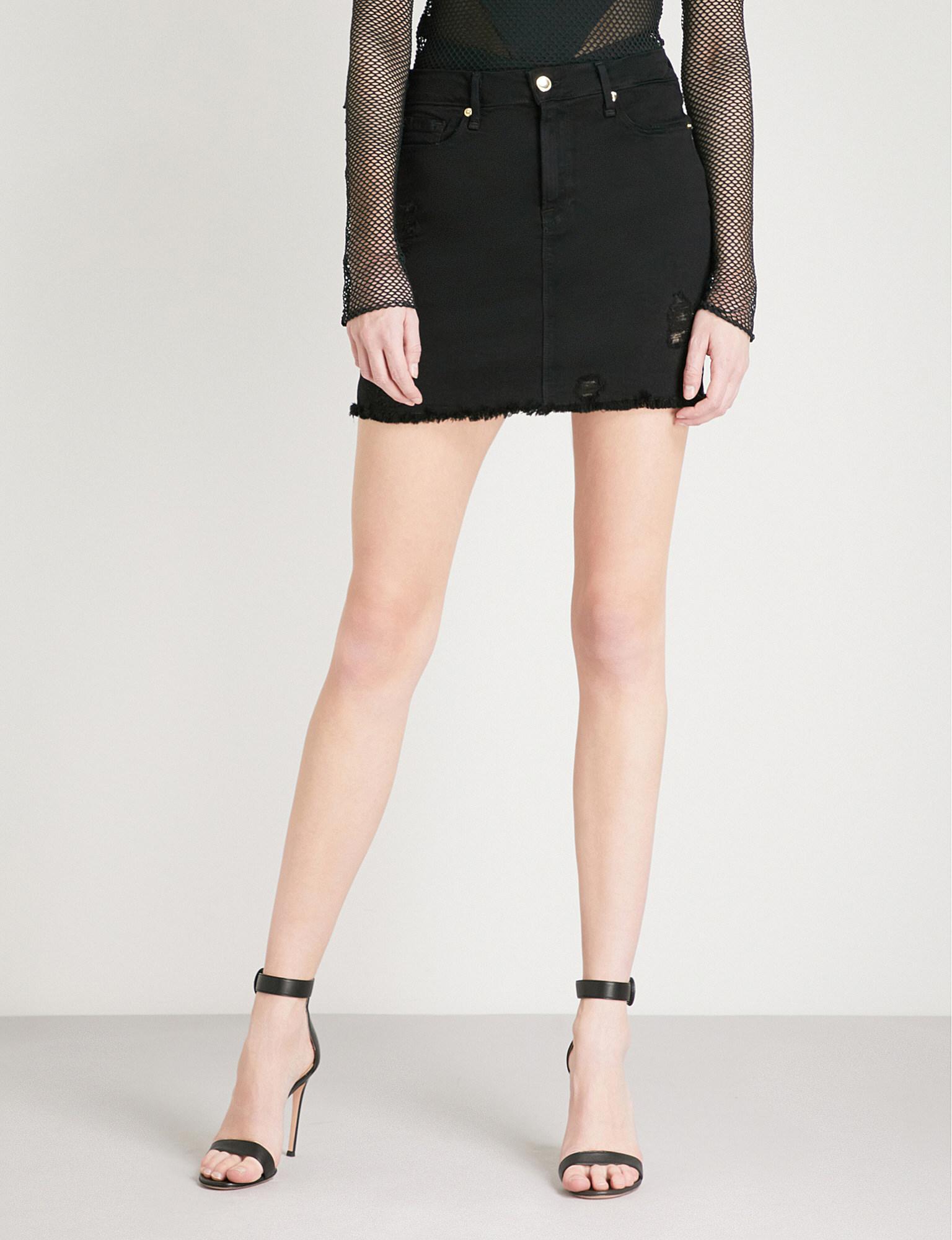 1536c86a9b1 Black Stretch Denim Skirt - Data Dynamic AG