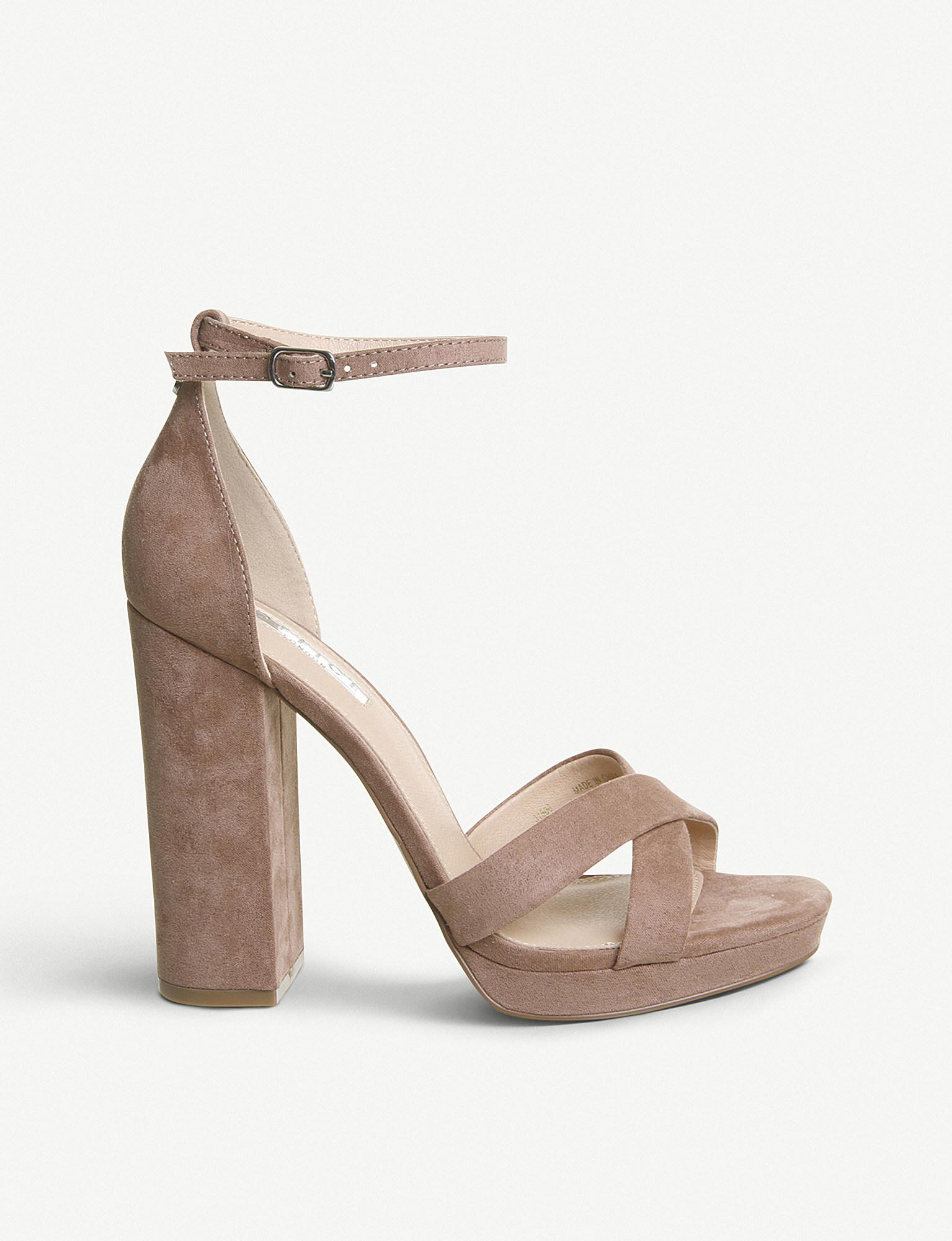 df5b6bd9930e91 Office Hiccup Faux-leather Platform-heeled Sandals - Lyst
