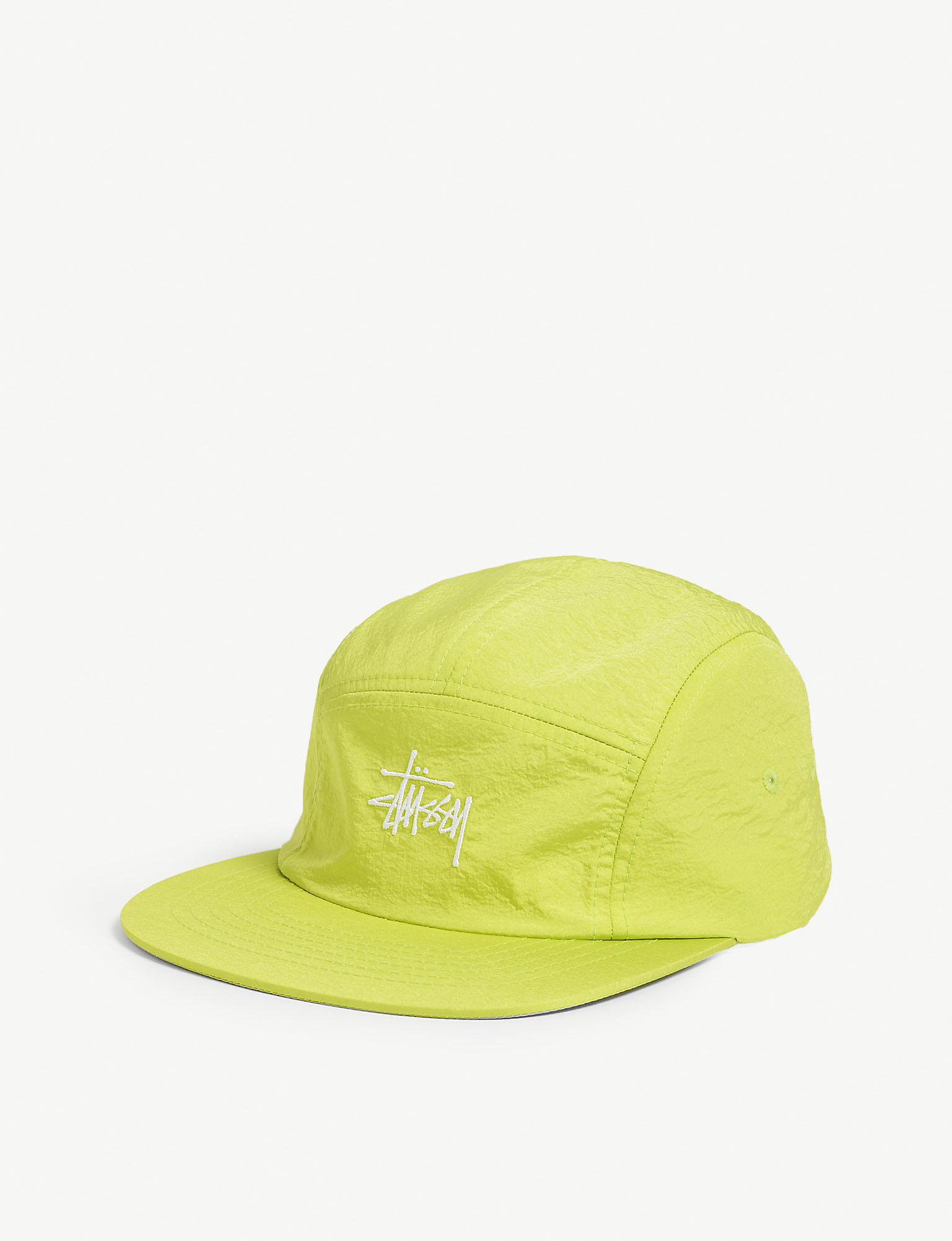 bed1bf7678316 Stussy Logo Baseball Cap in Yellow for Men - Lyst