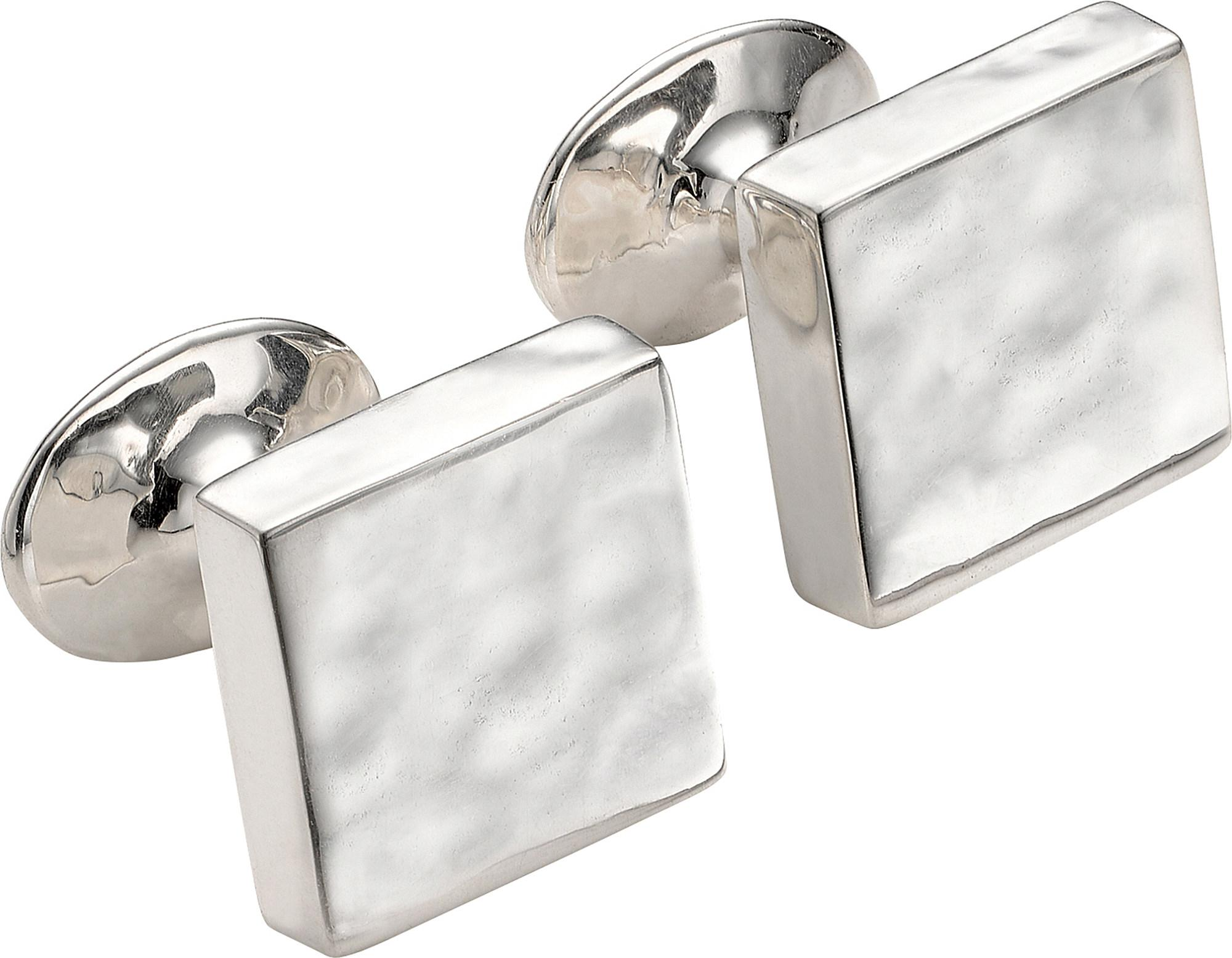 Monica Vinader Sterling Silver Square Cufflinks, Men\'s in Metallic ...