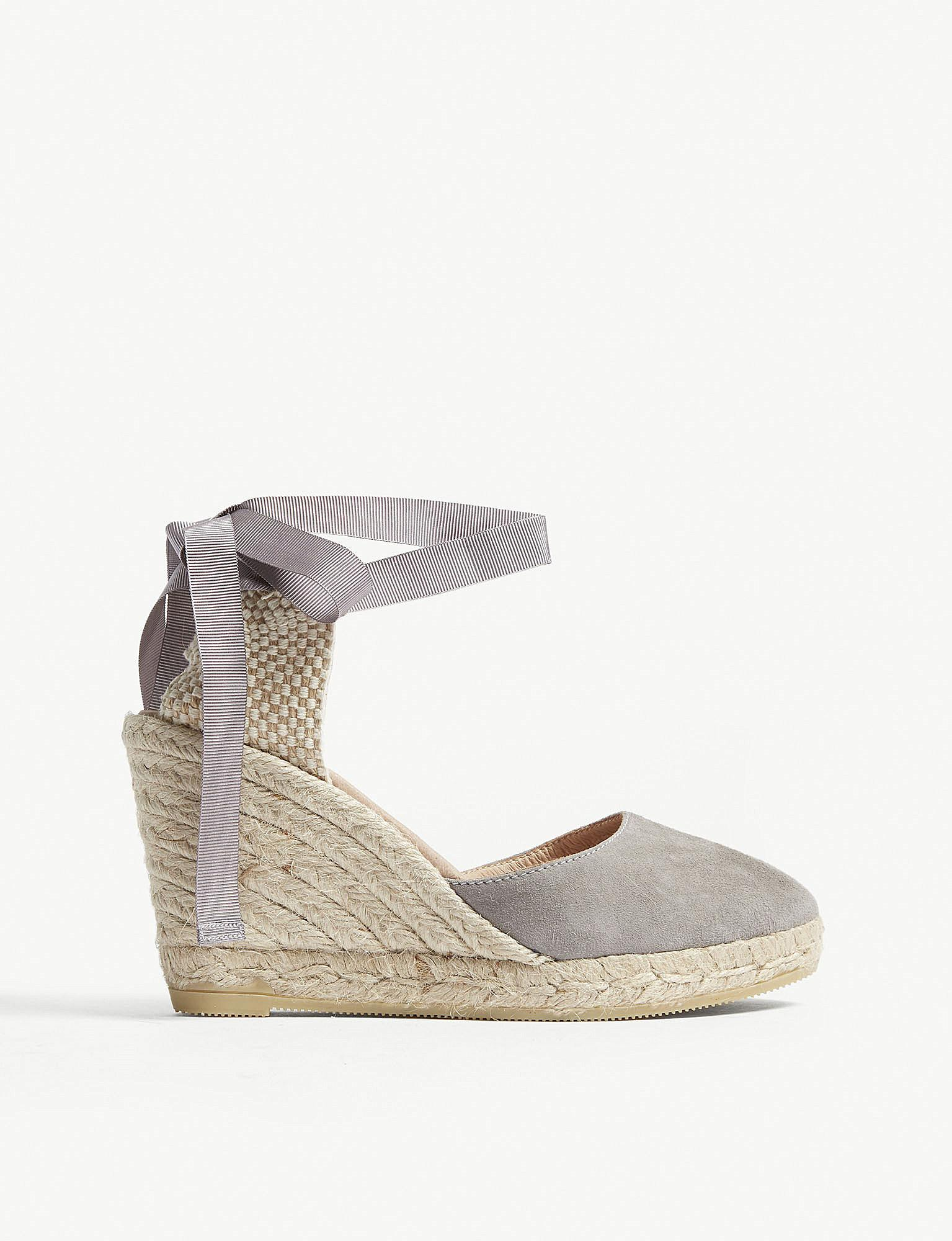 09fa7ce7b192 Lyst - Office Espadrille Wedges in Gray