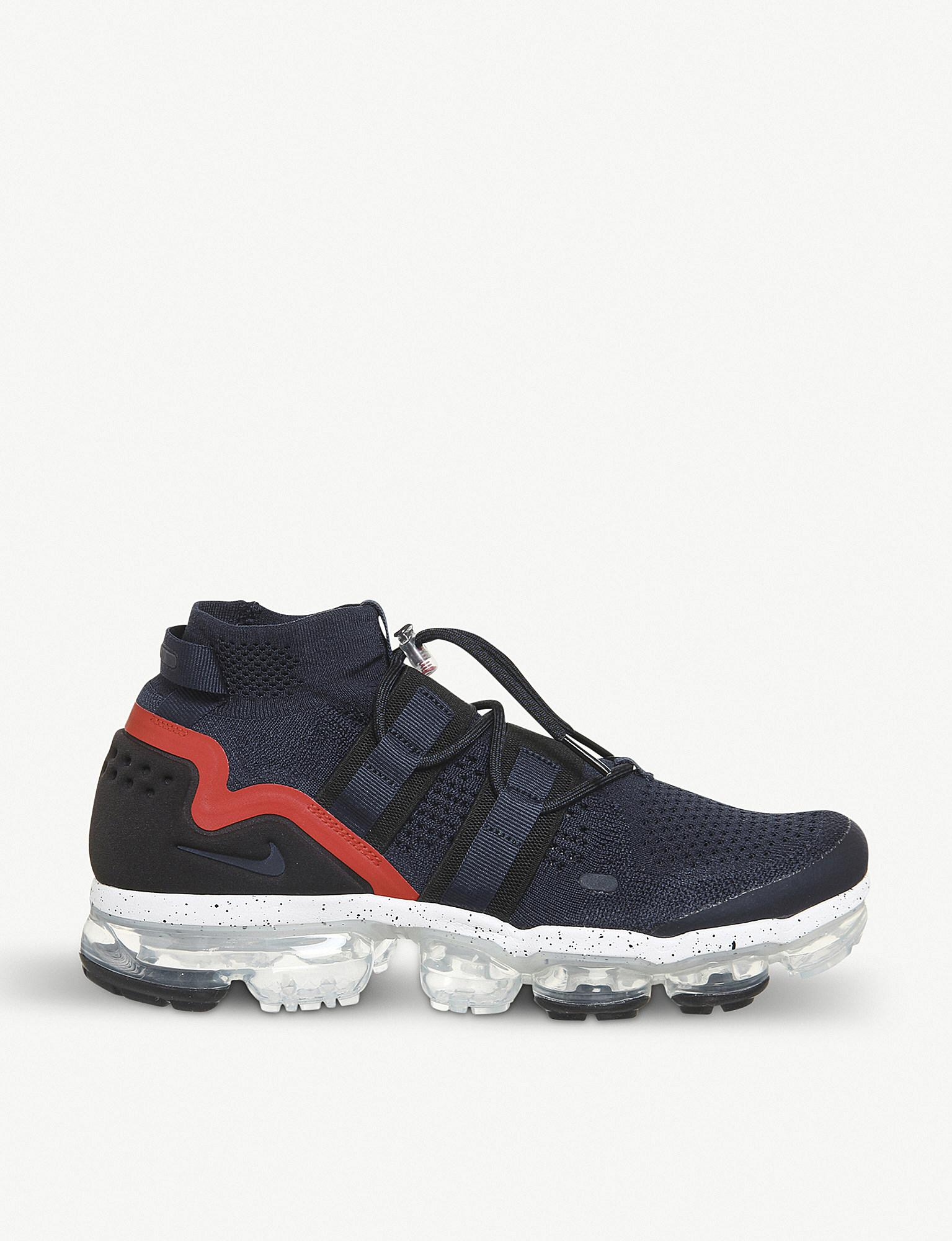 48fe57c84ade Lyst - Nike Air Vapormax Flyknit Utility Trainers in Blue for Men