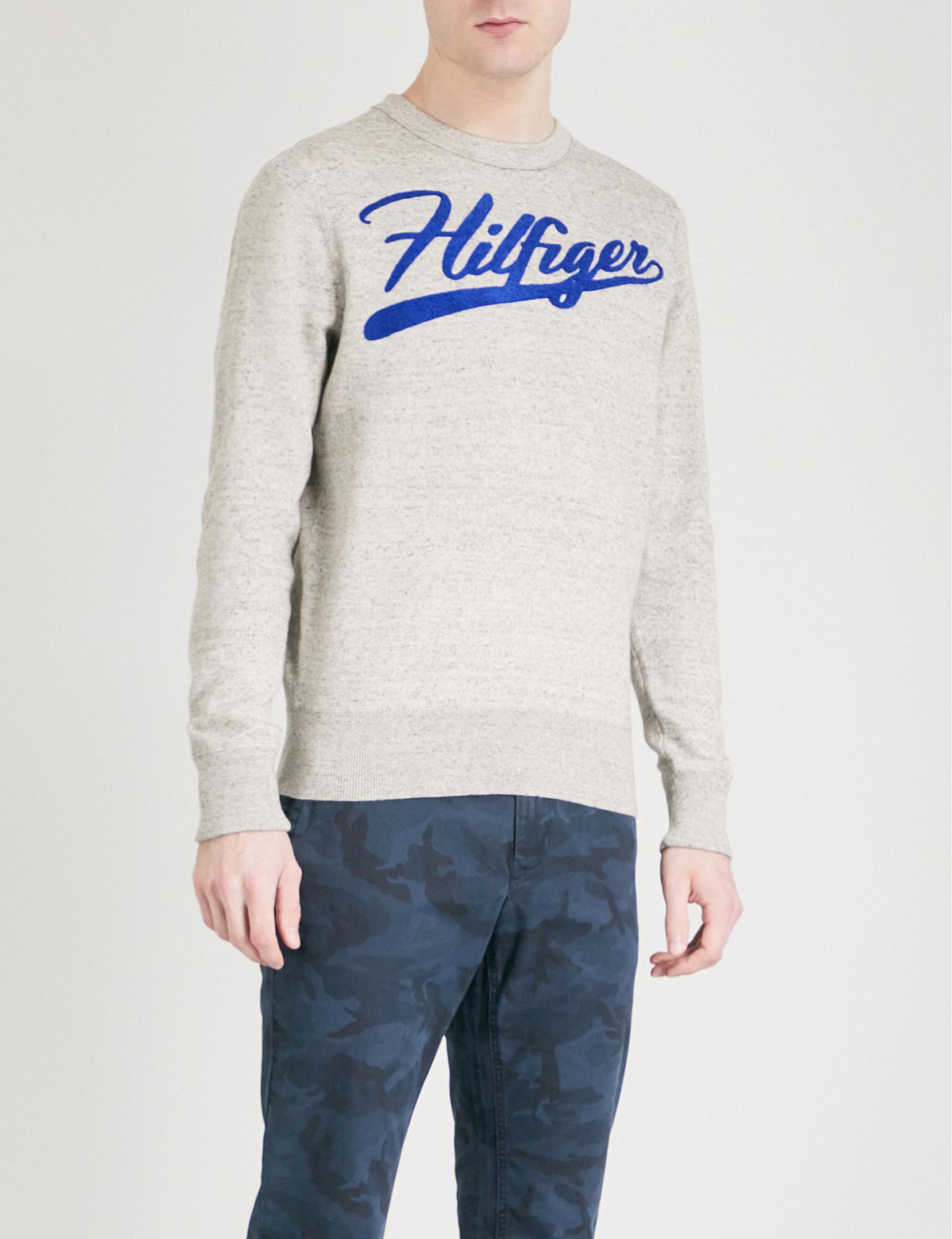4b9f3b7901ef Lyst - Tommy Hilfiger Iggy Embroidered Logo Cotton-jersey Sweatshirt ...
